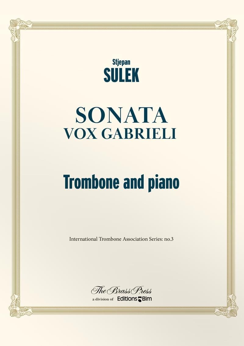 Sulek  Stepjan  Sonata  Vox  Gabrieli  Tb39