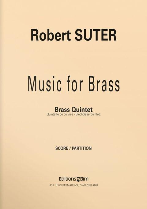 Suter  Robert  Music For  Brass  Ens54