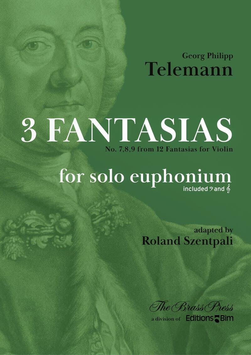 Telemann Georg Philipp 3 Fantasias Euphonium Tu213
