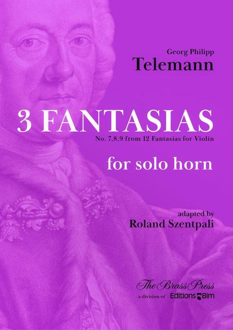 Telemann Georg Philipp 3 Fantasias Horn Co107