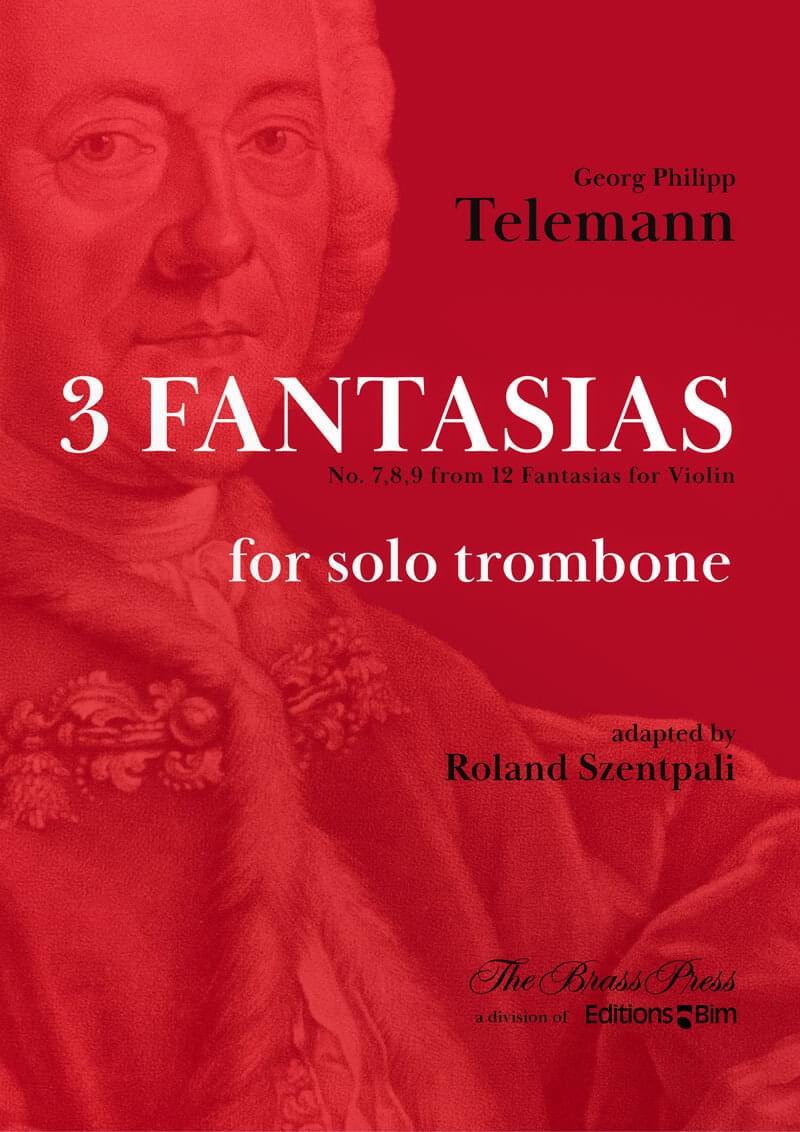 Telemann Georg Philipp 3 Fantasias Trombone Tb108