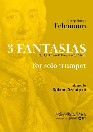 Telemann Georg Philipp 3 Fantasias Trumpet Tp285