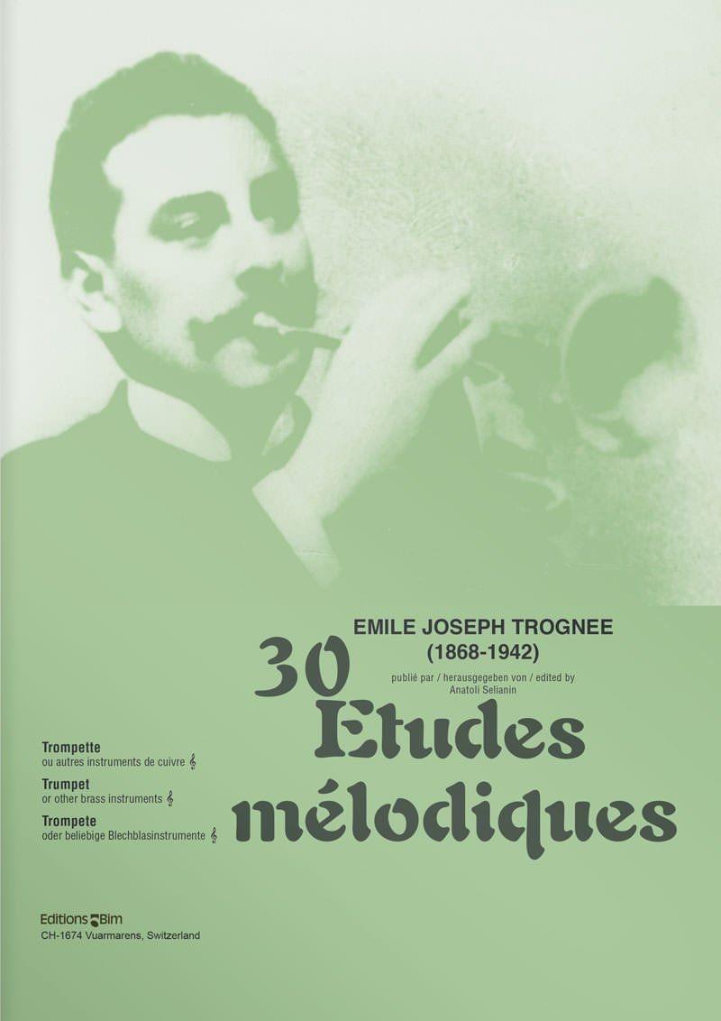 Trognee  Emile  Joseph 30  Etudes  Melodiques  Tp14