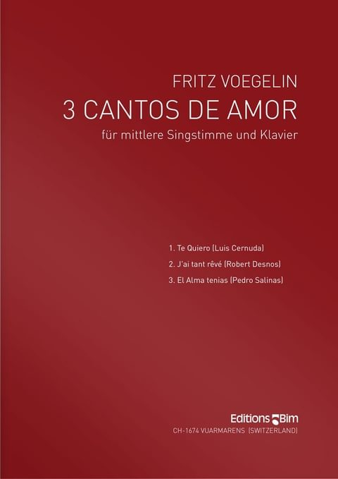 Voegelin  Fritz 3  Cantos De  Amor  V7