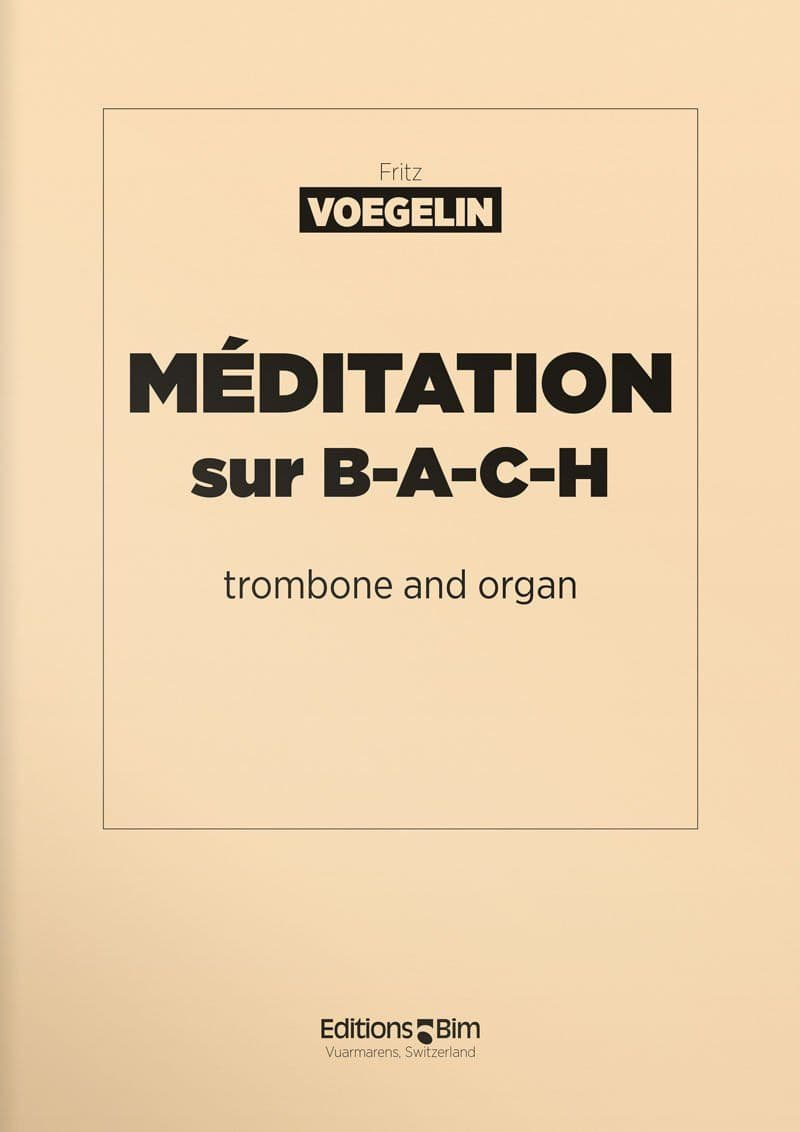 Voegelin  Fritz  Meditation Sur  Bach  Tb19