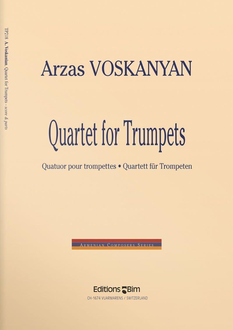Voskanian  Arzas  Quartet For  Trumpets  Tp218