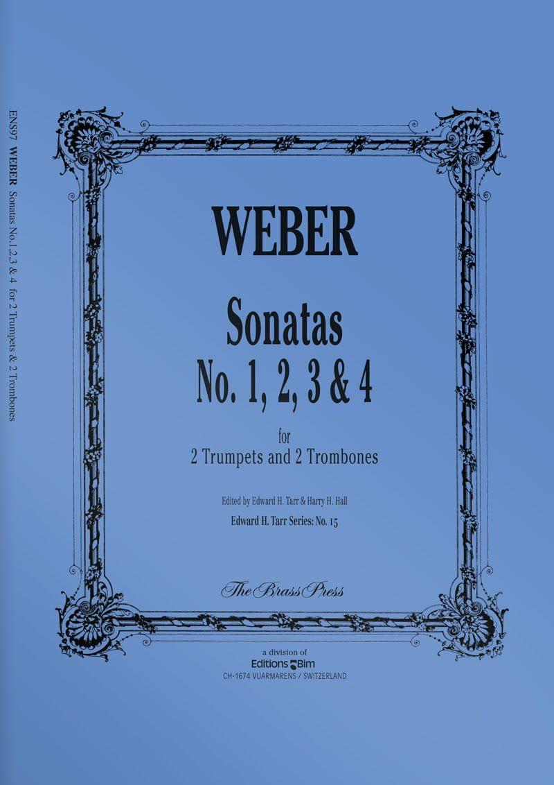Weber  Sonatas 1 2 3 4  Ens97