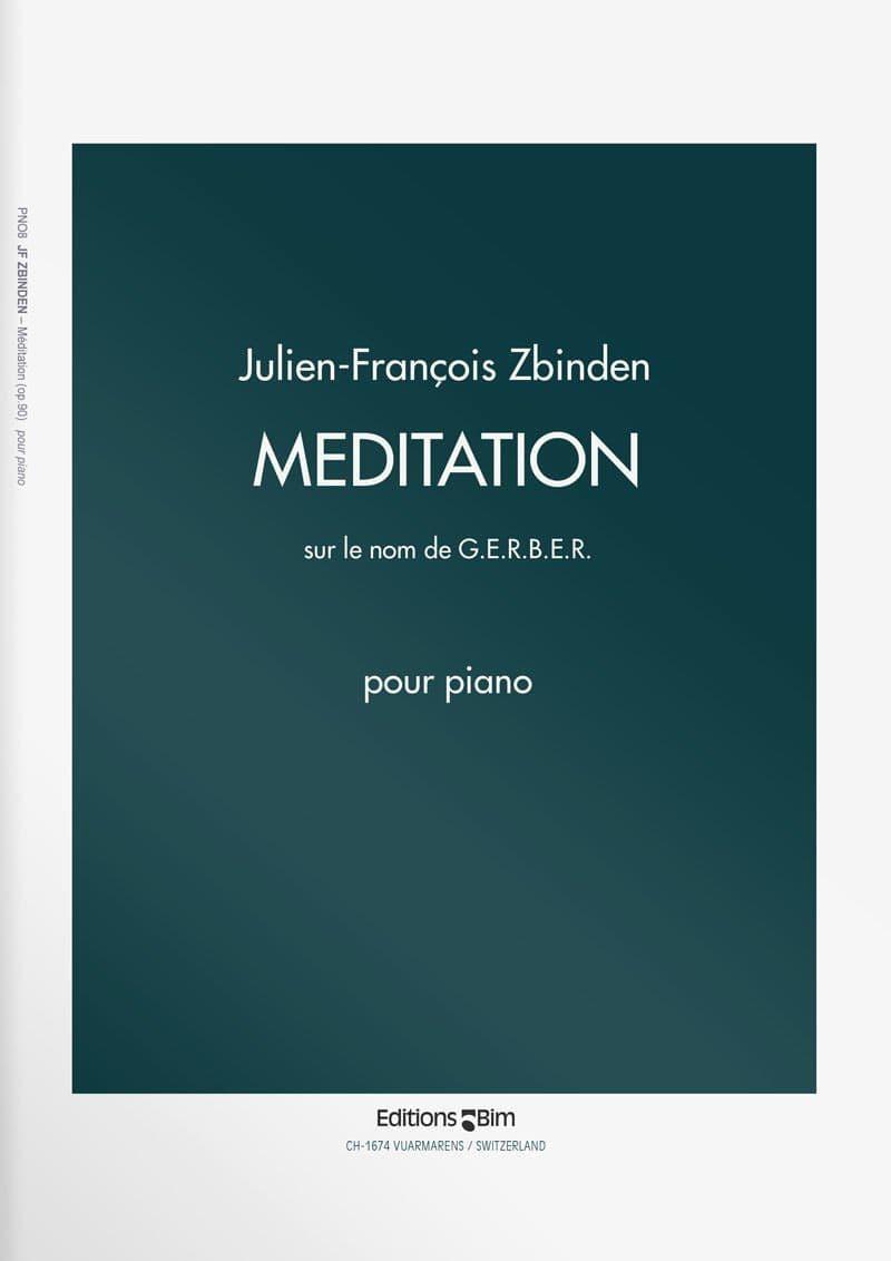 Zbinden  Jf  Meditation Sur Le Nom De  Gerber  Pno8