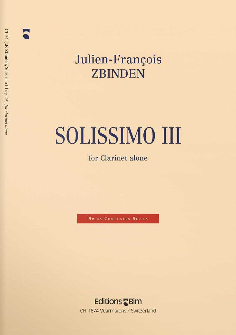 Zbinden  Jf  Solissimo  Iii  Cl24