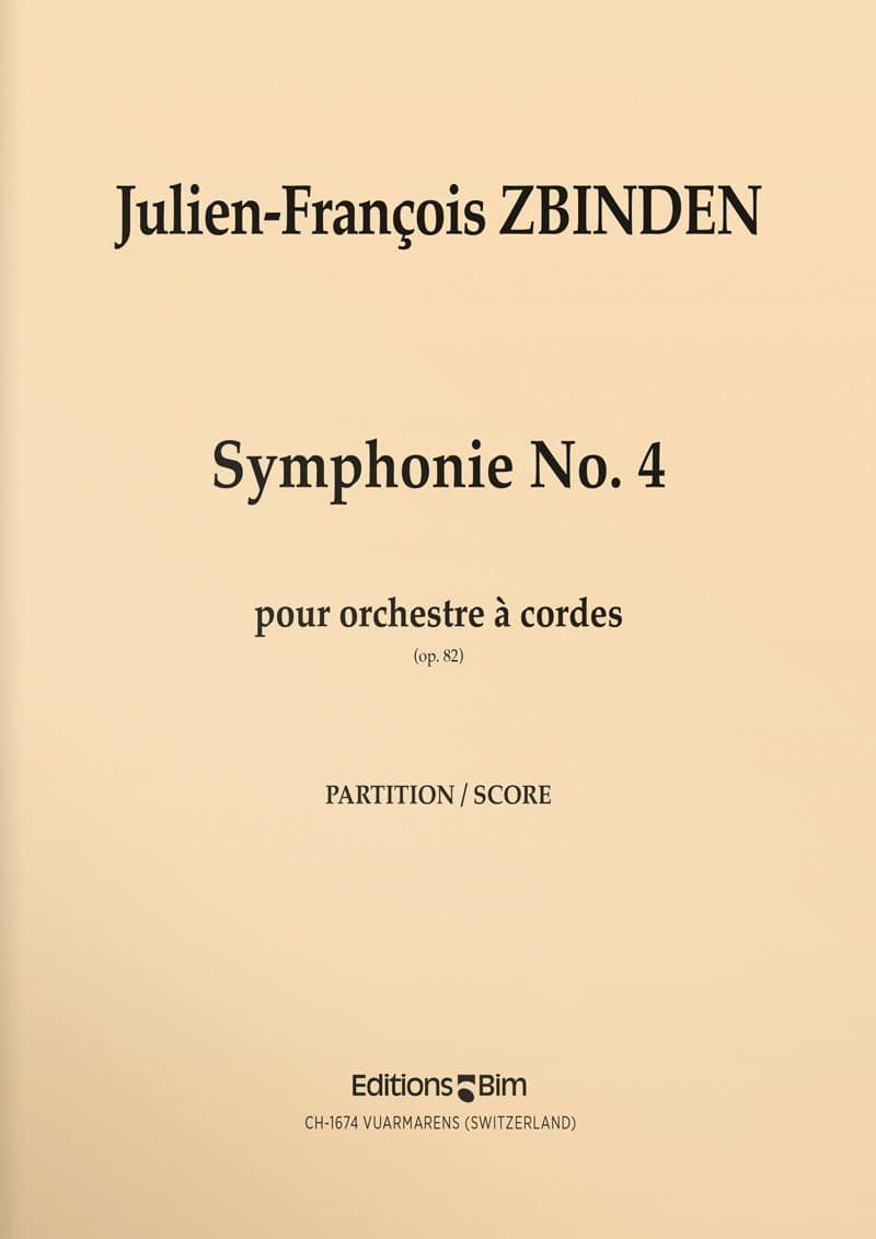 Zbinden  Jf  Symphonie No 4  Orch8