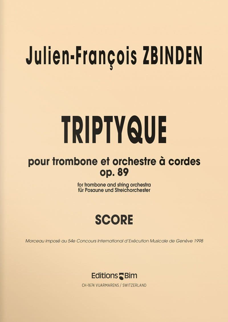 Zbinden  Jf  Triptyque  Tb30