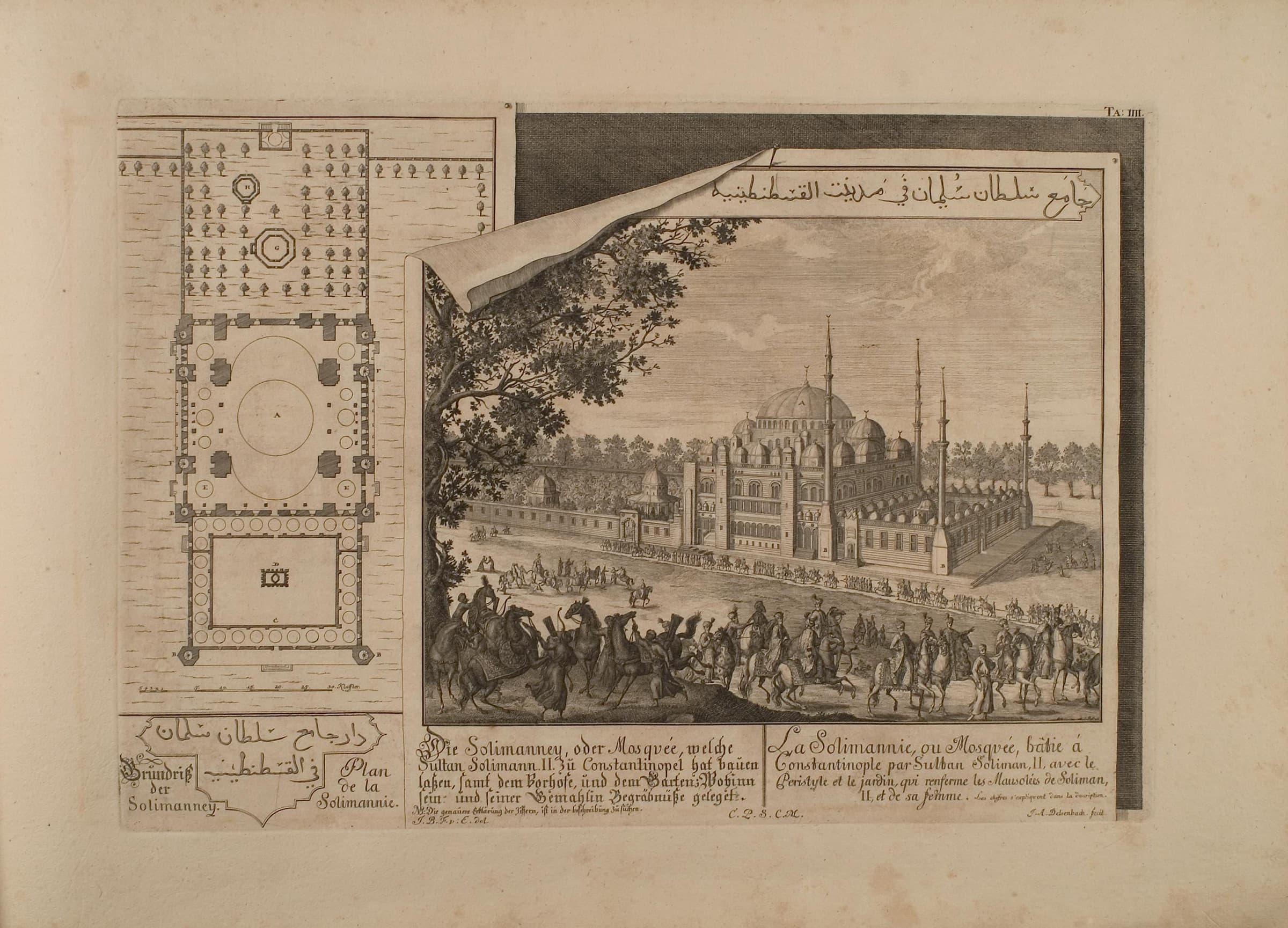 Etching of Süleymaniye Mosque