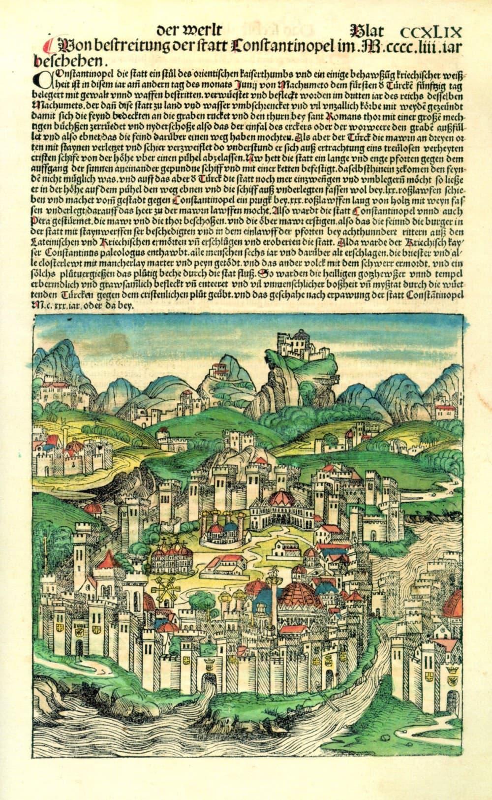 Schedel, Constantinople