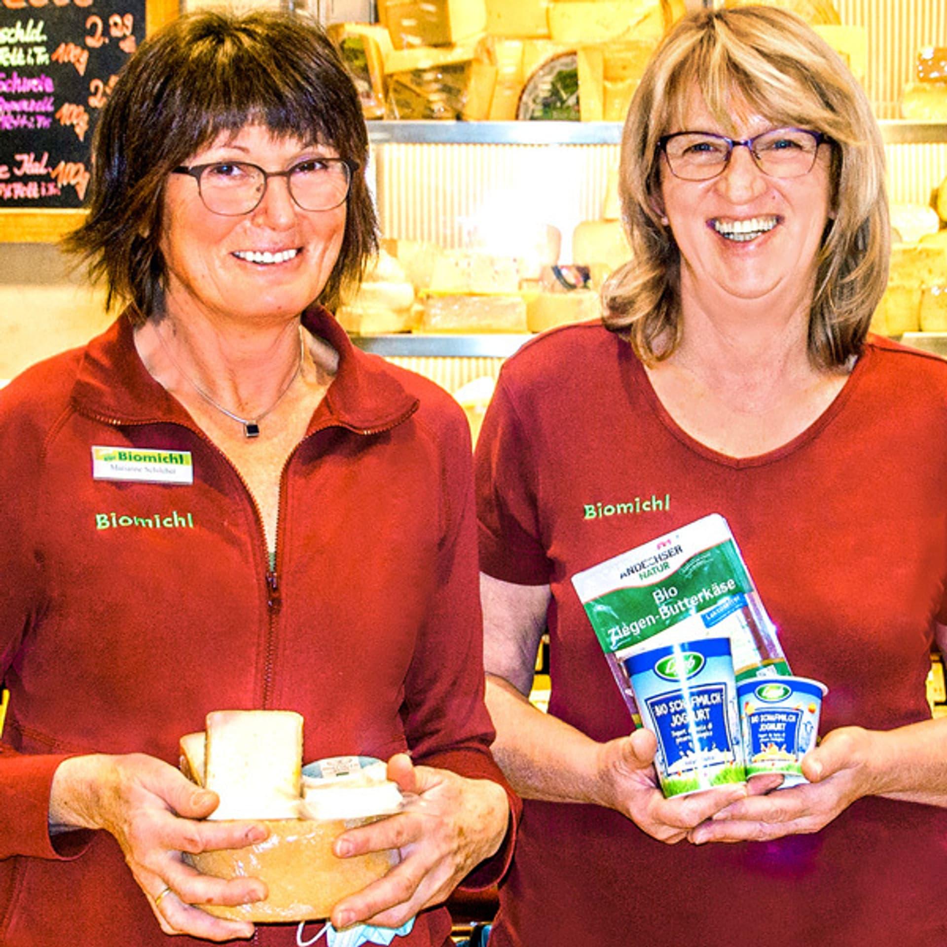 Marianne Schilcher und Renate Däschinger vom Biomichl in Weilheim