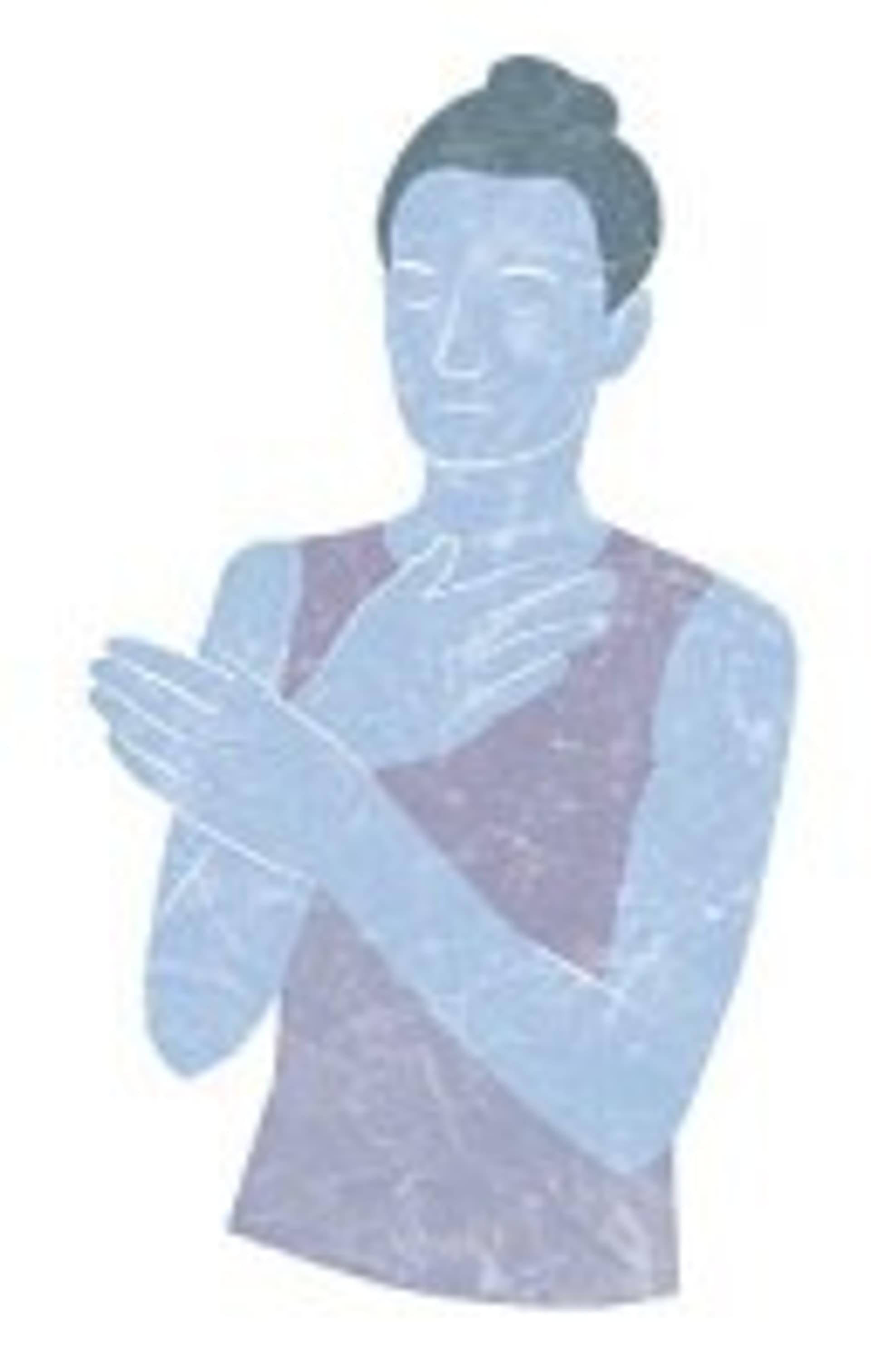 Frau kreuzt die Hände vor der Brust
