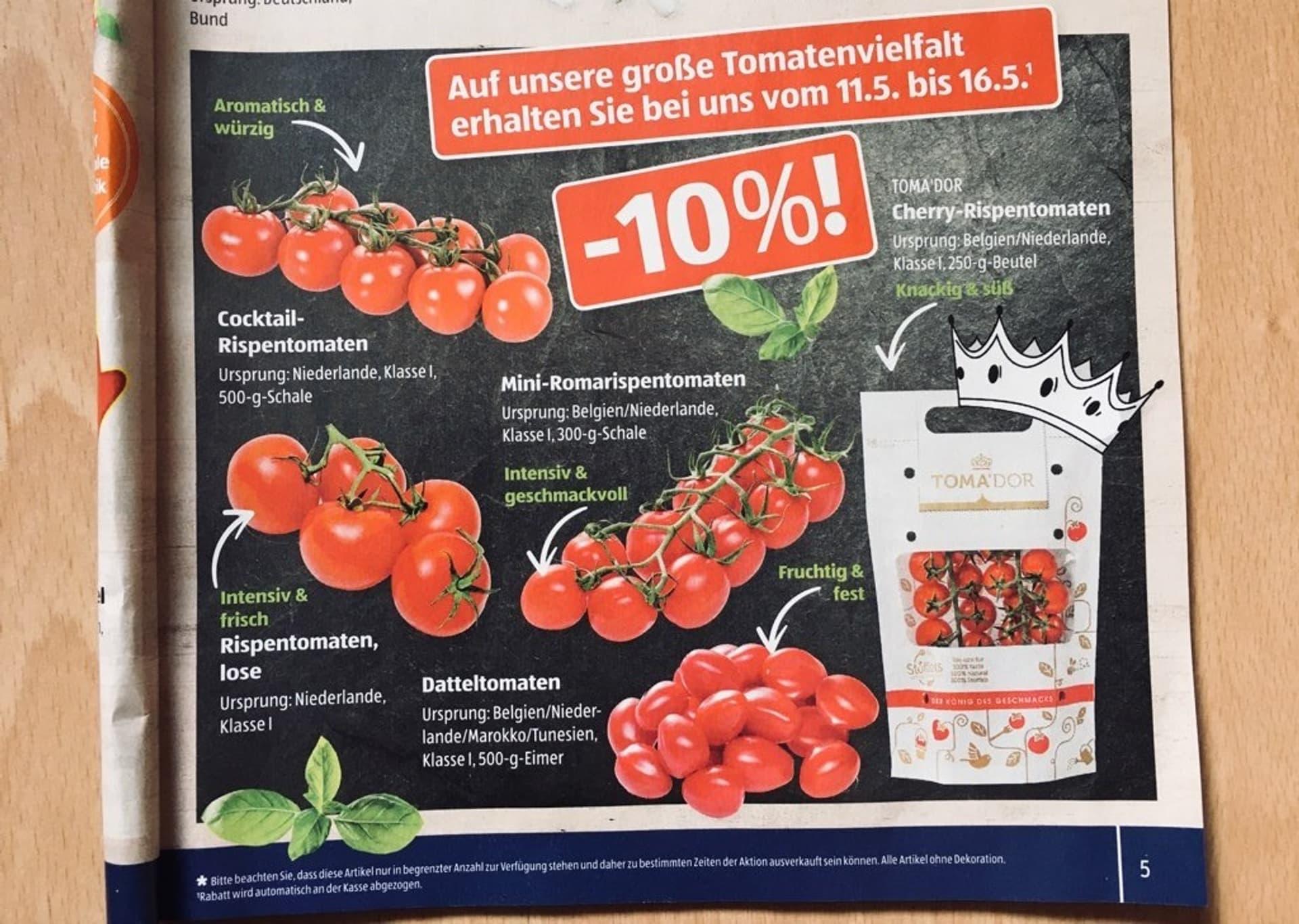 Tomaten in der Aldi-Werbung