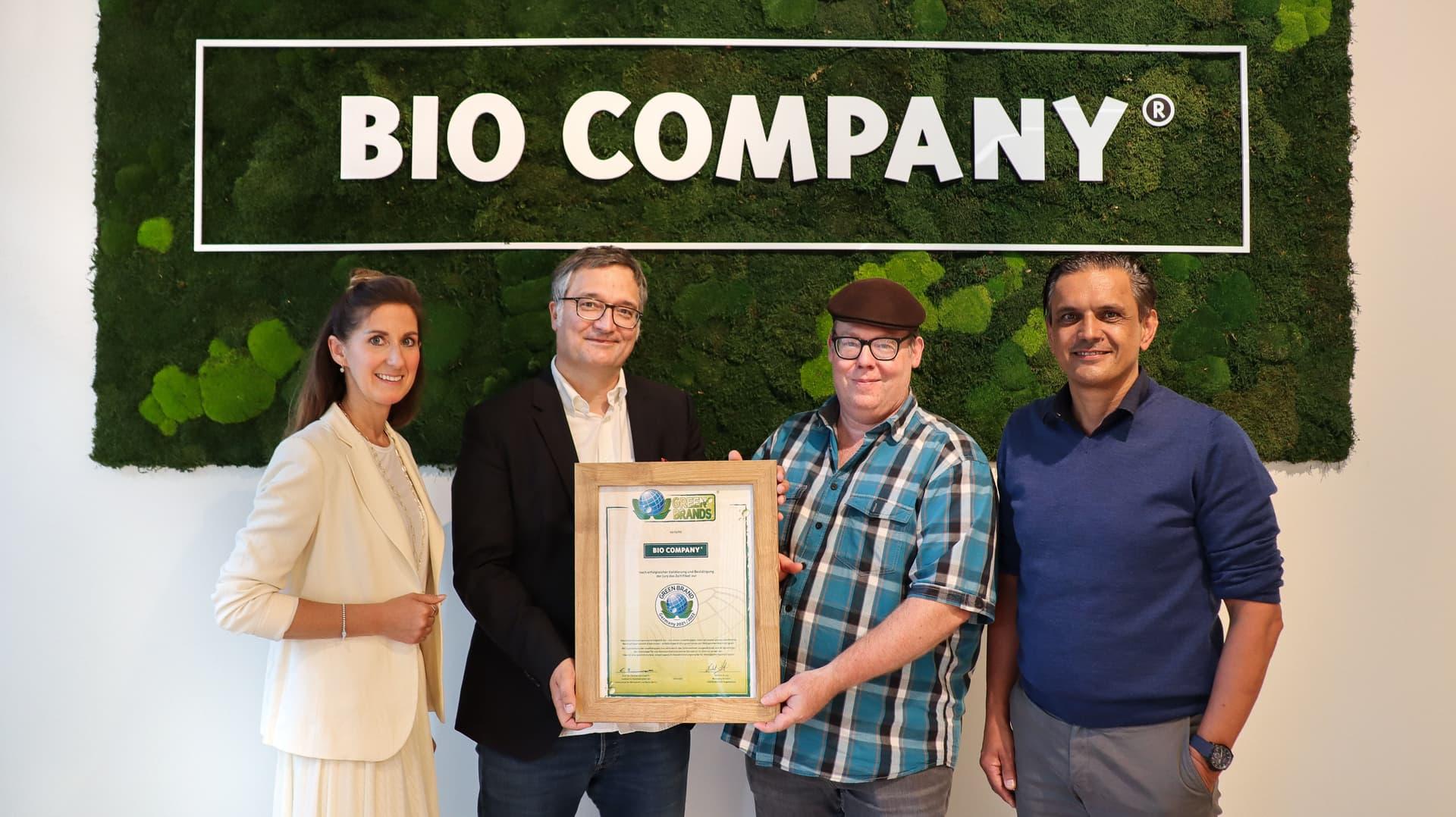 Green Brands Zertifikatsübergabe an die Bio Company