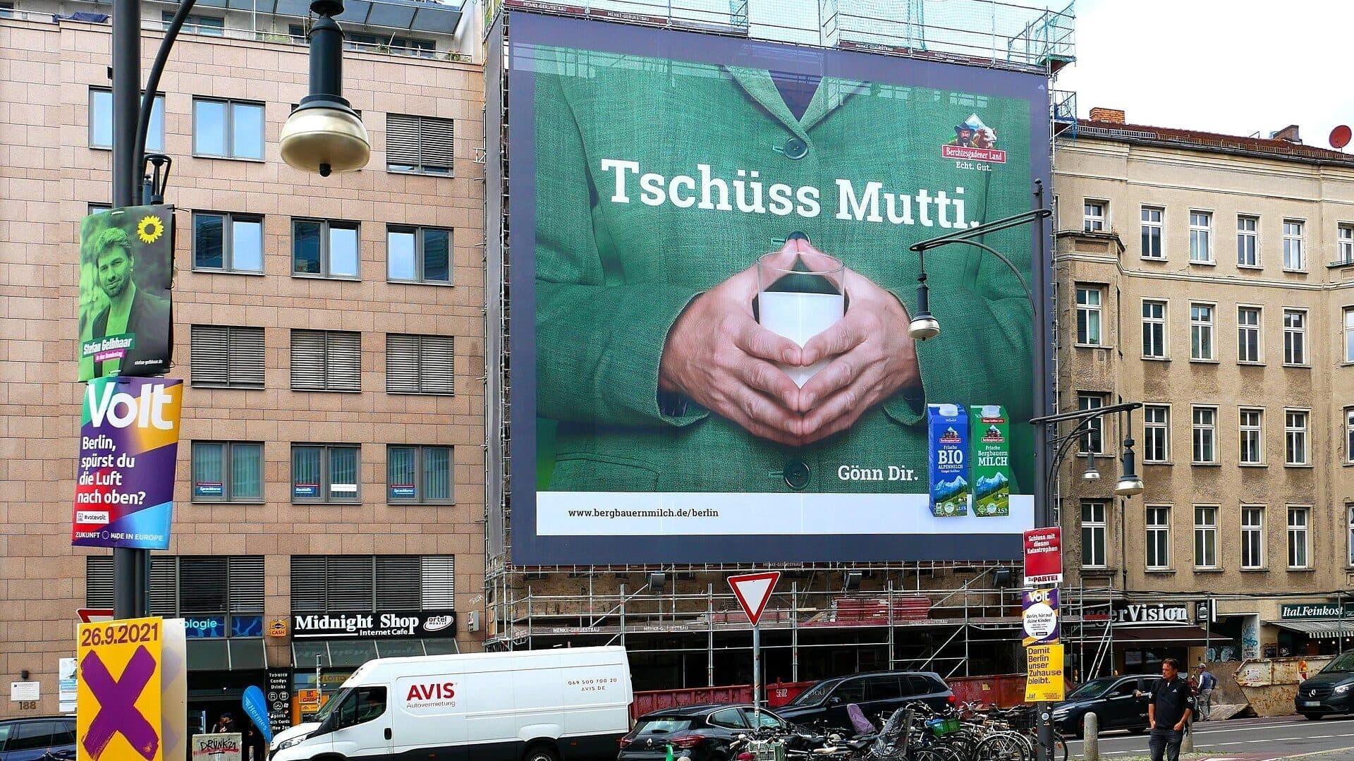 Berchtesgadener Land, Merkel, Werbung, Plakat, Raute