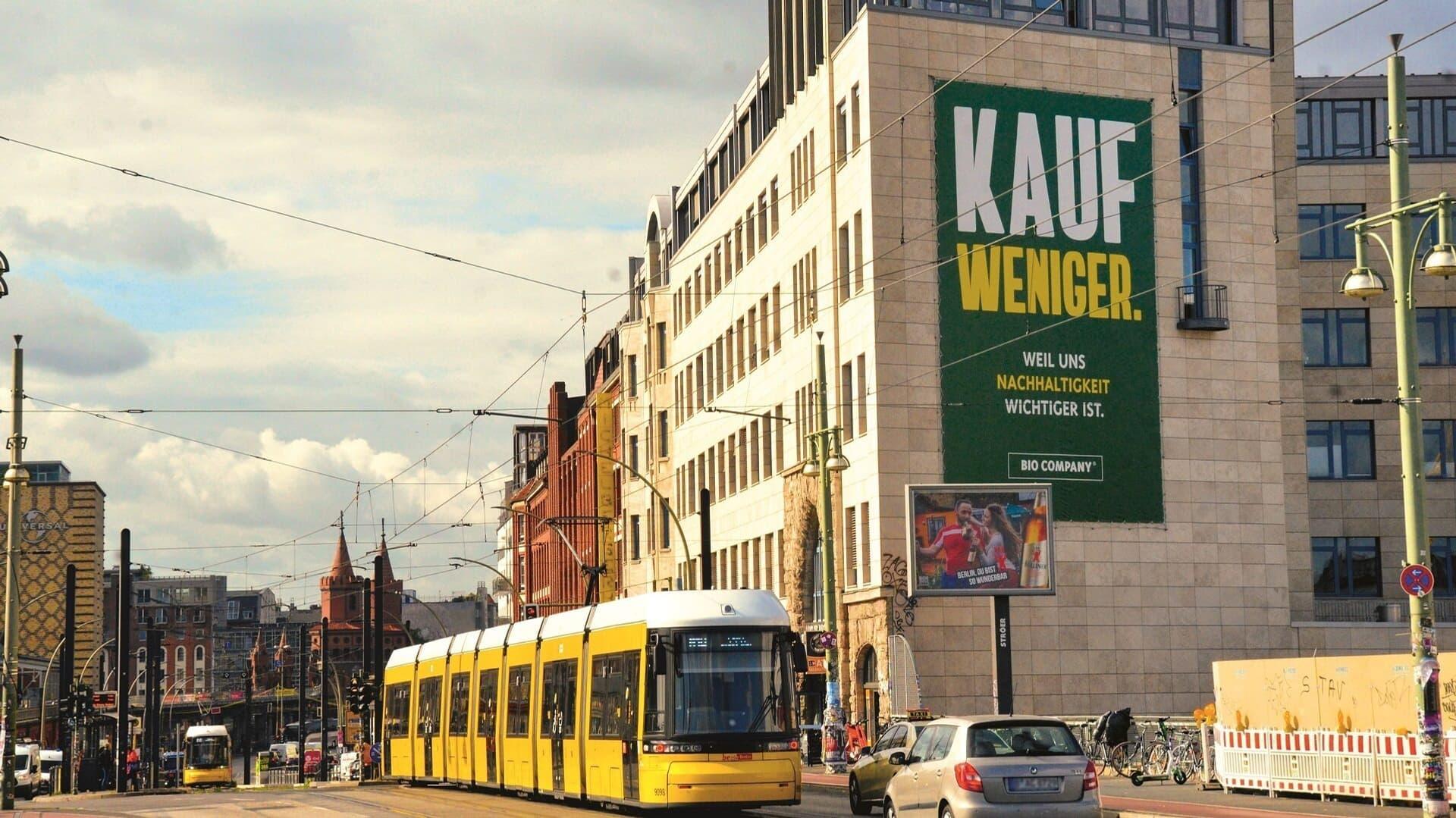 Werbeschild mit der Aufschrift