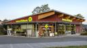 Fassade eines denns Biomarkt mit neuem Markenauftritt