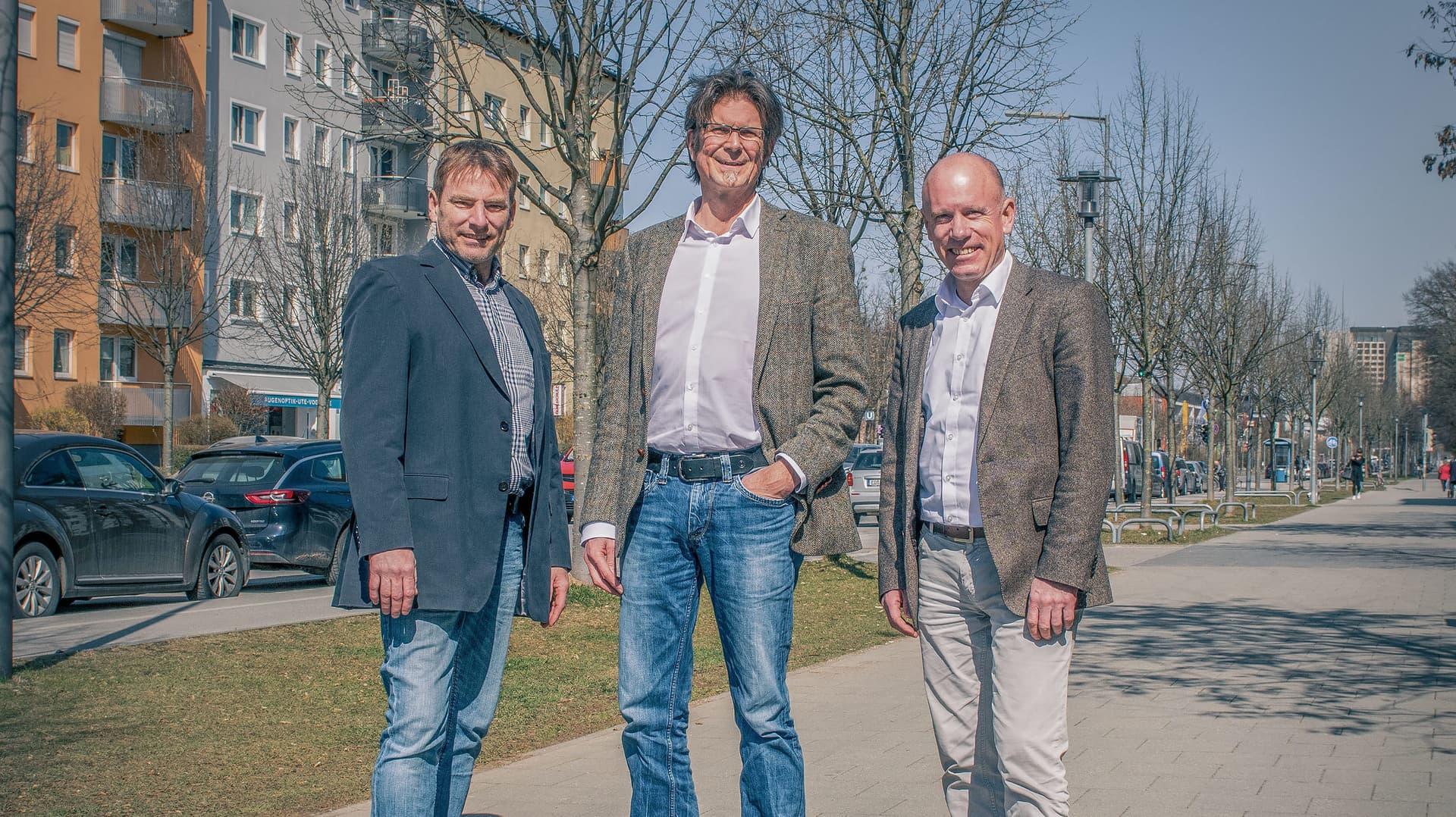 Biomammut-Gründer Roland Harter, Basic-Chef Hermann Oswald, Basic-Vorstand Stephan Thewalt
