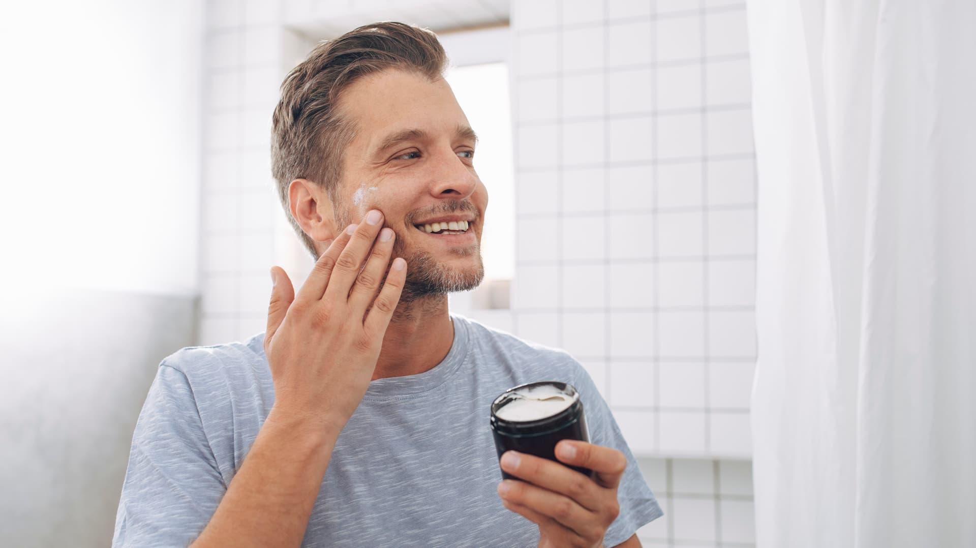 Mann, After shave, creme