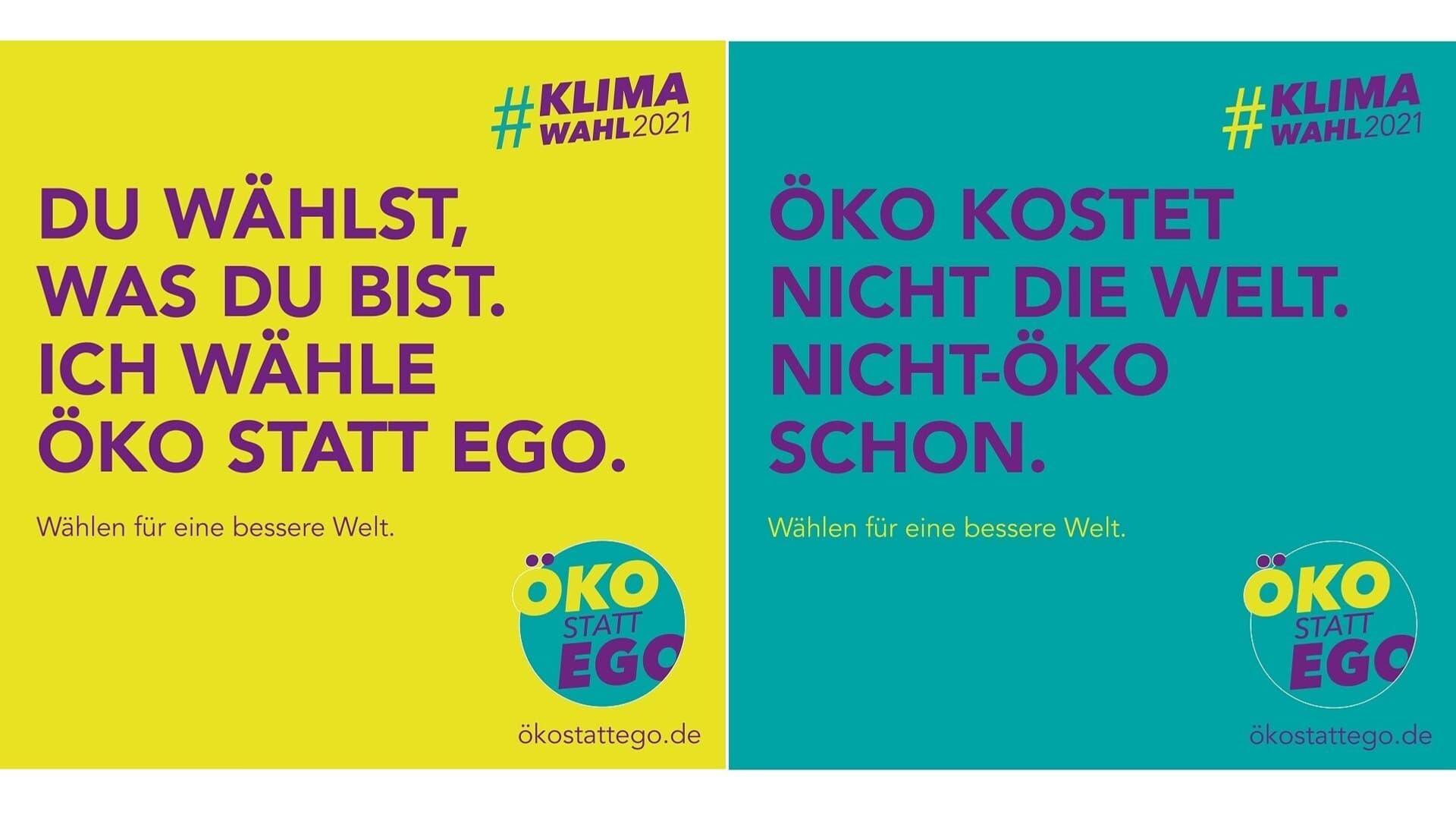 Klimawahl-Kampagnen Material von Öko statt Ego