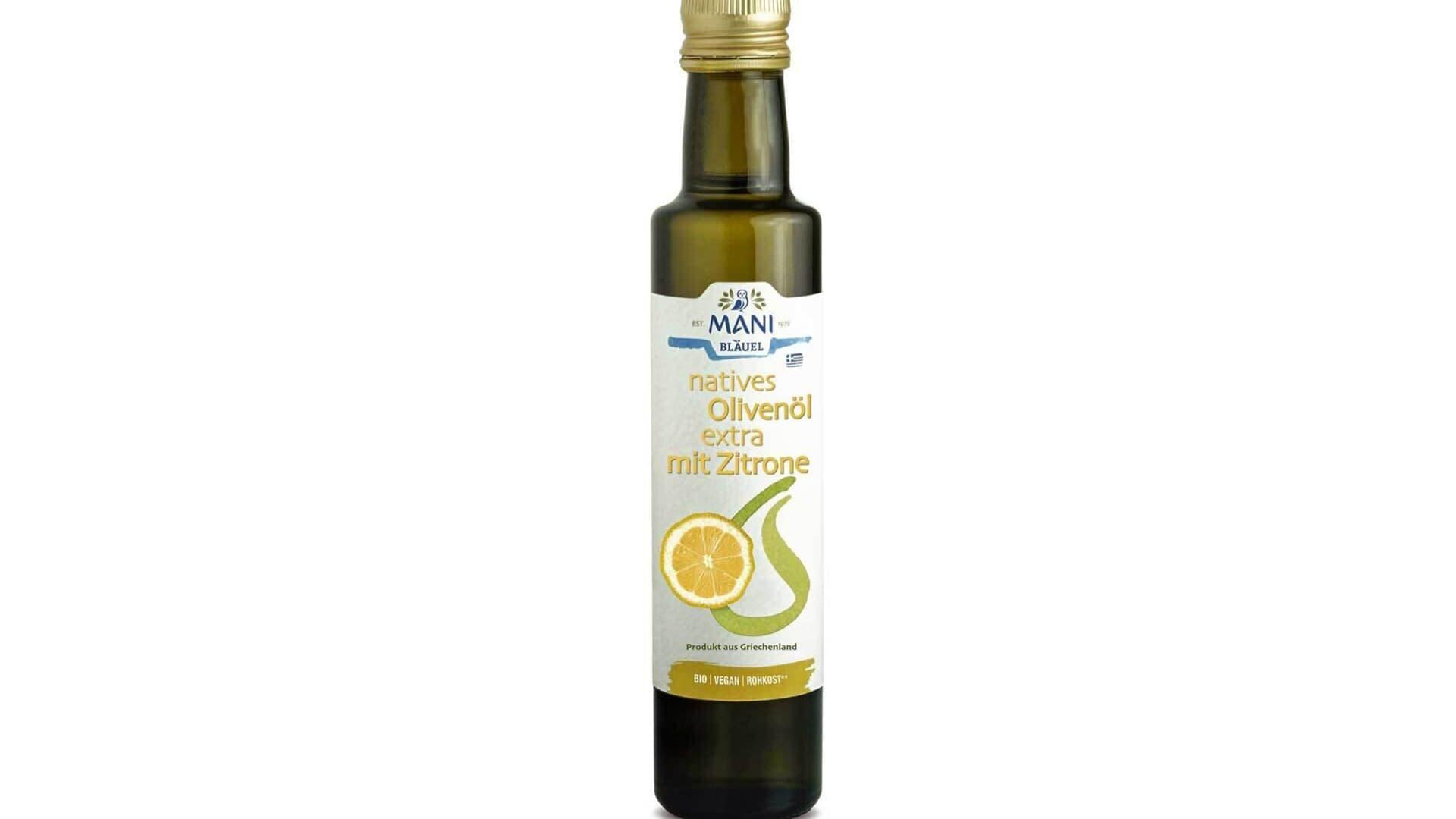 Mani Bläuel Olivenöl mit Zitrone