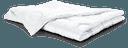 Bettdecke, gefaltet, Satin, Wolle