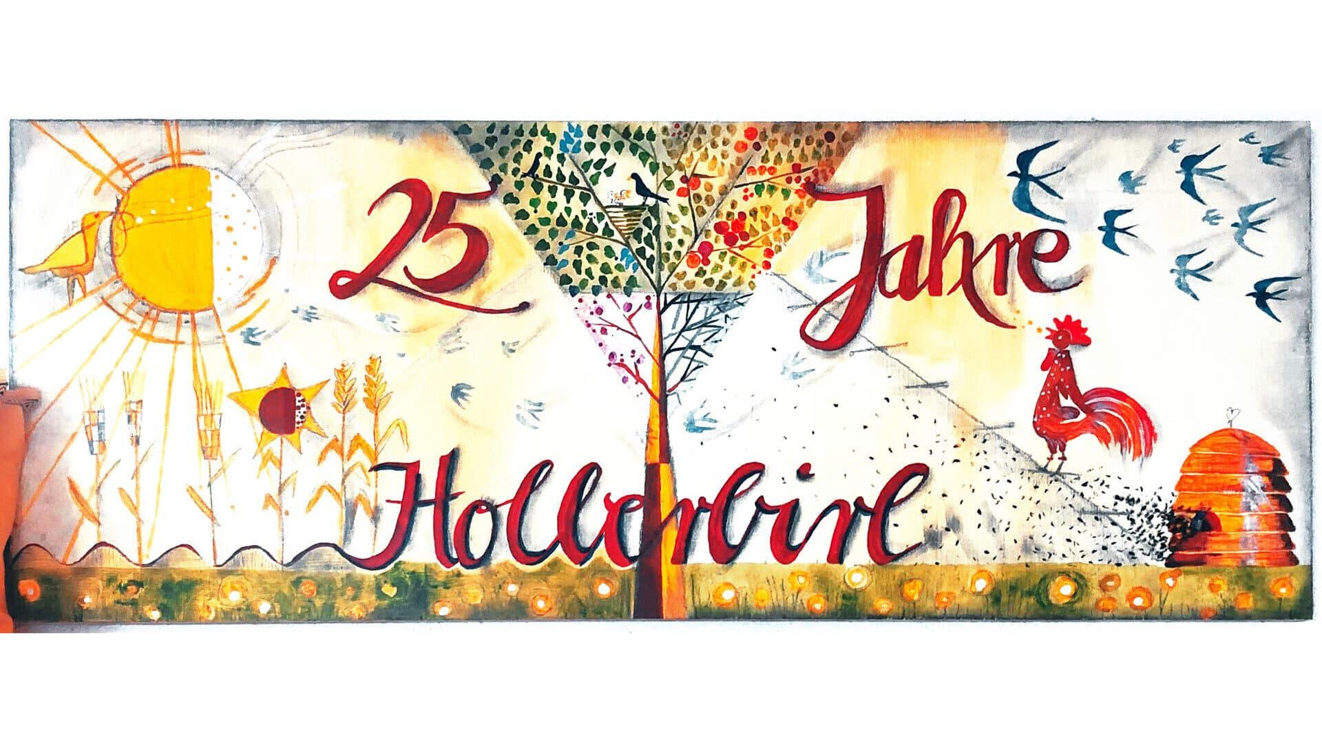 25 Jahre Hollerbirl Schild