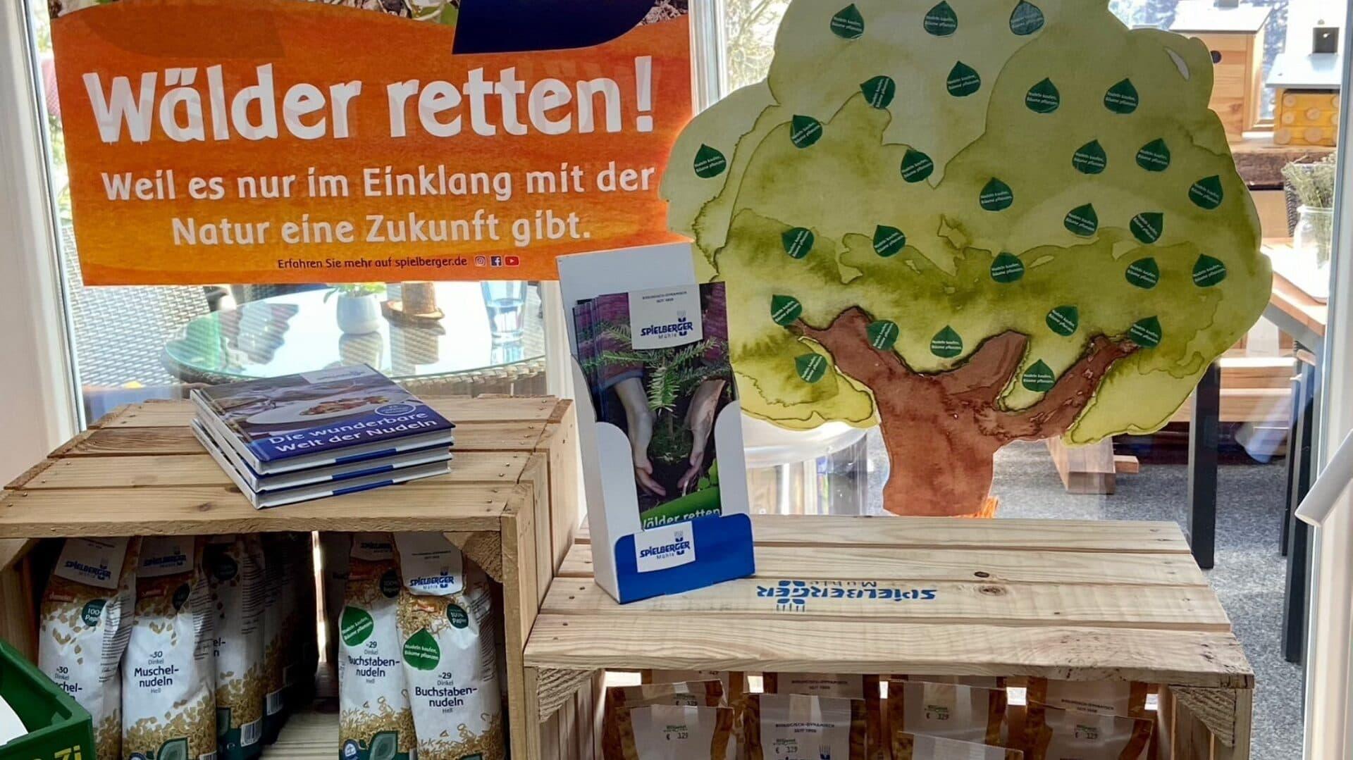 Spielberger Fachhandelsaktion Wälder retten