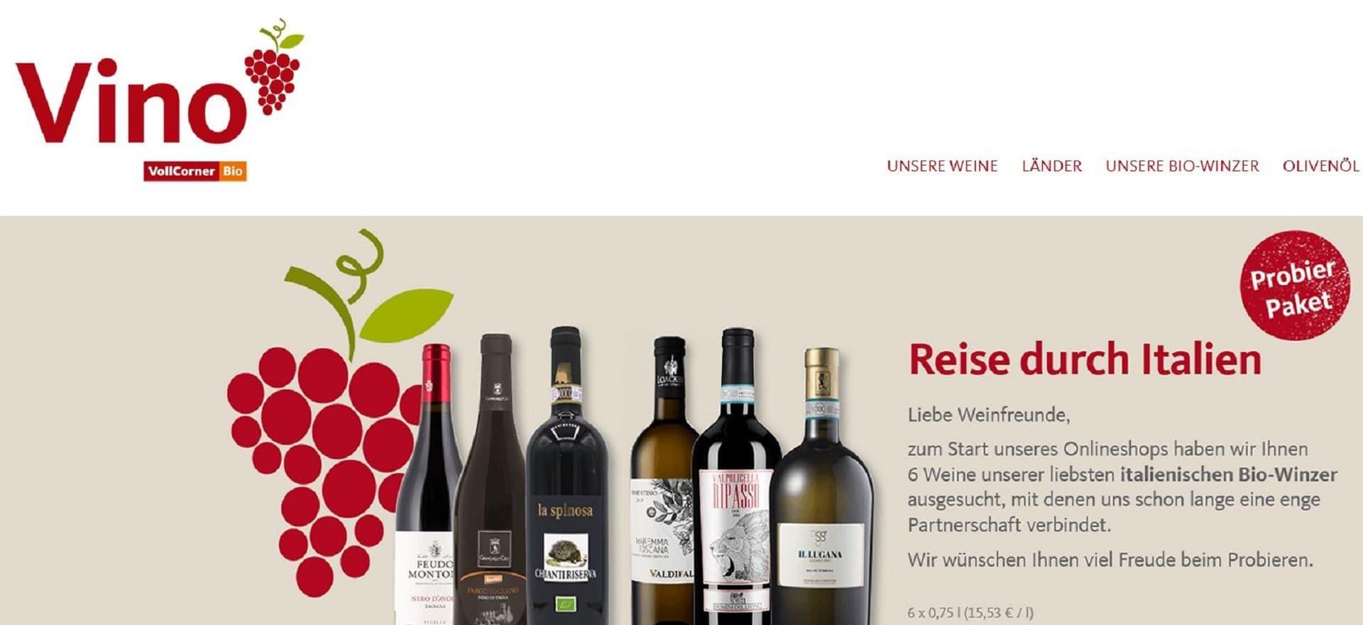 Vollcorner Online-Shop Vino Wein