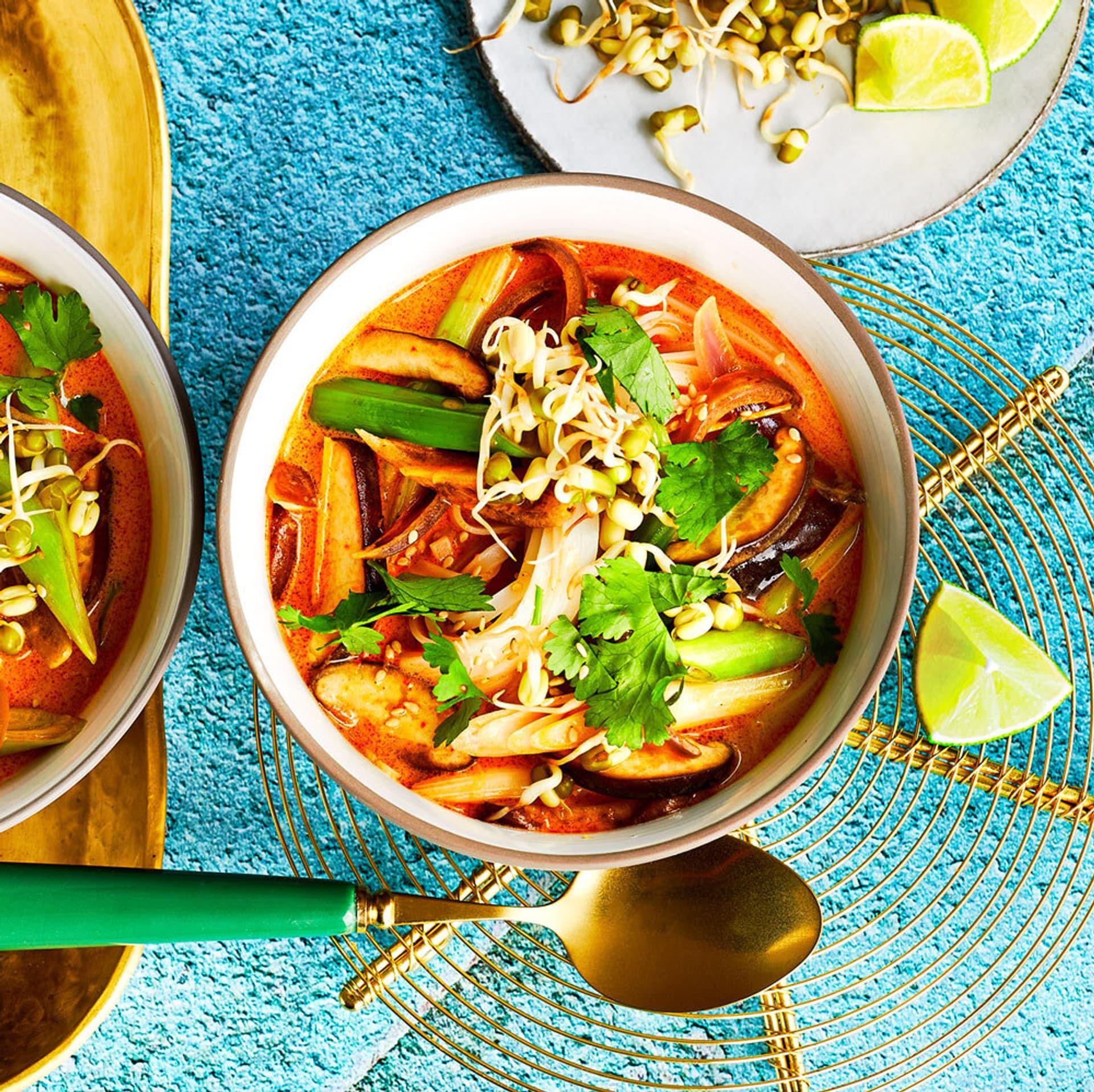 Curry Kokossuppe Mungbohnen