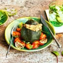 Gefuellte Zucchini Bulgur Tomate Feta