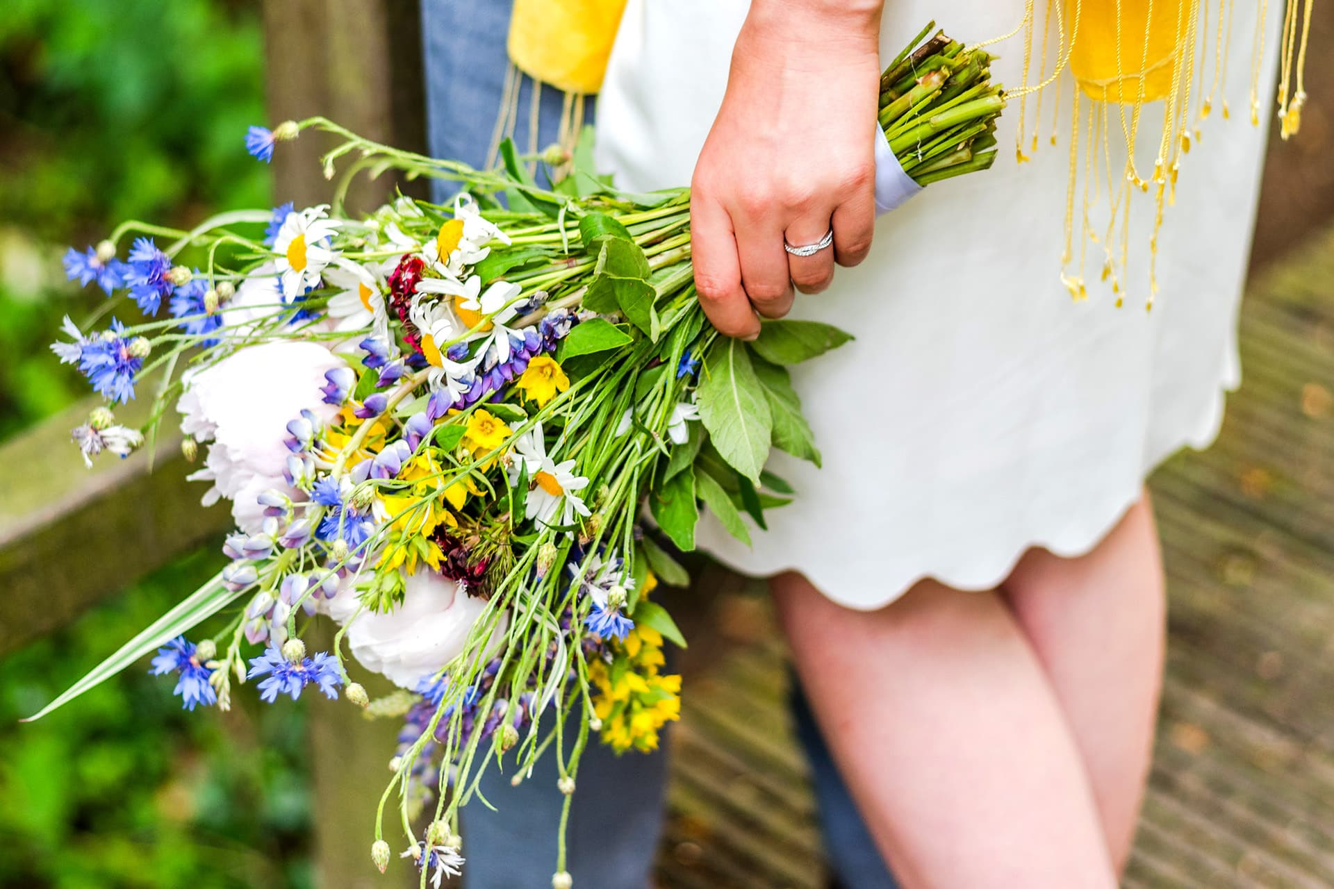 Regionaler Blumenstrauß für die Hochzeit