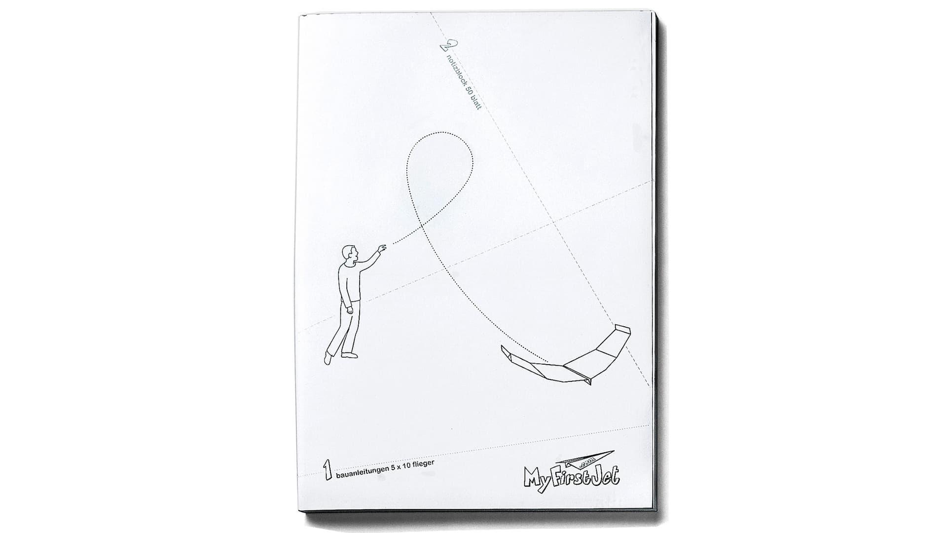 Notizbuch Papierflieger