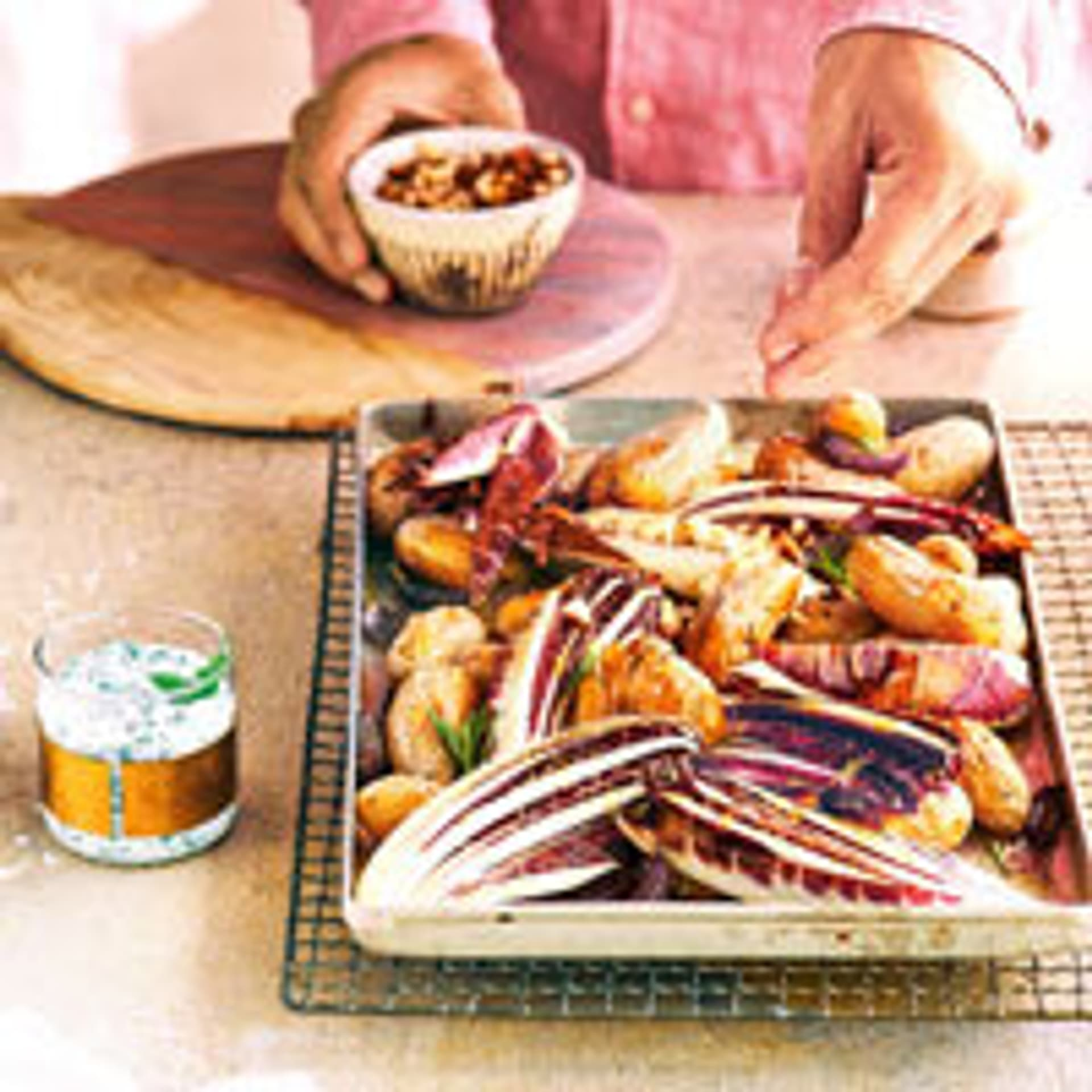 Ofenkartoffeln mit Radicchio