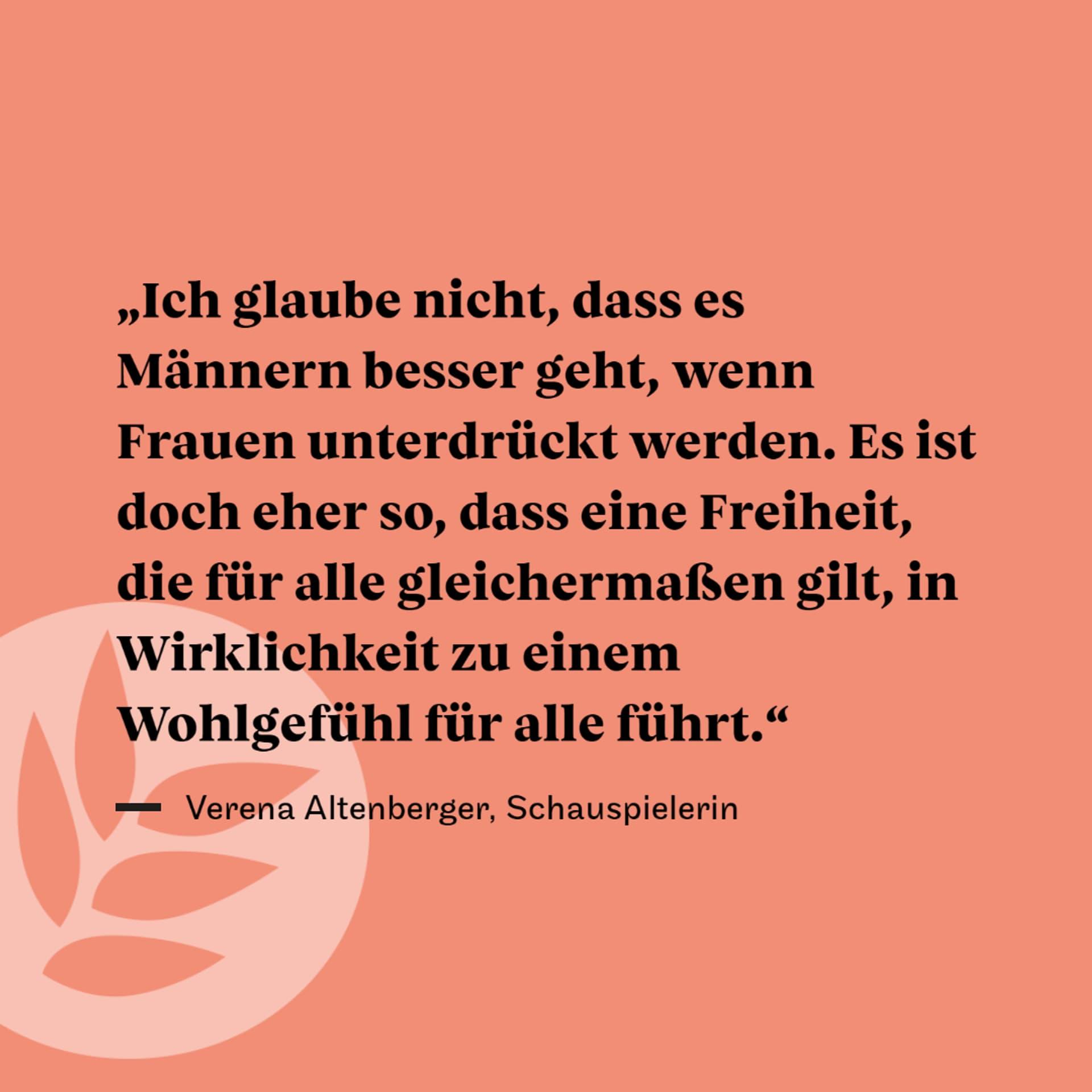 Verena ALtenberger Zitat