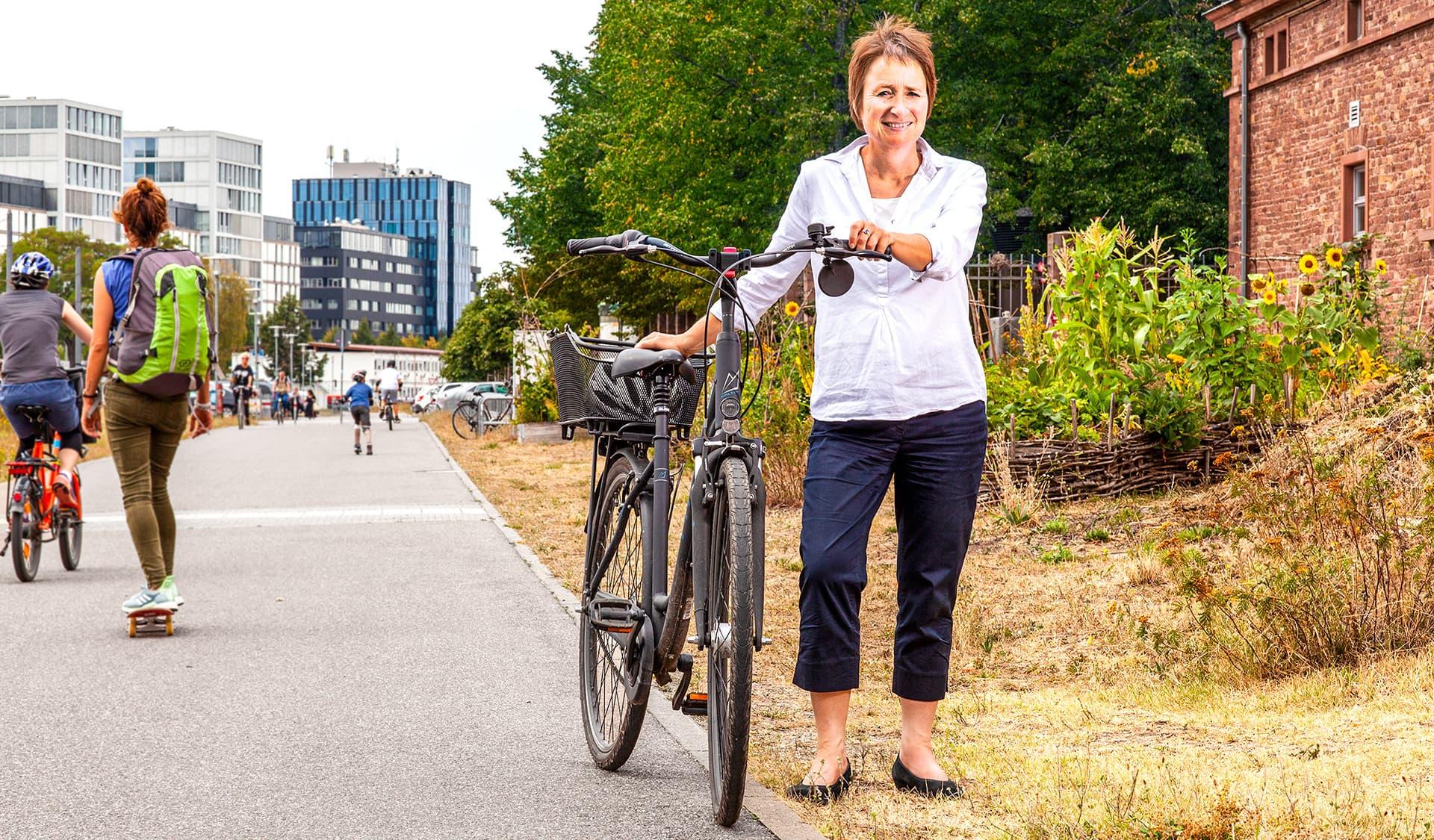 Bettina Lisbach Bürgermeisterin der Bio-Stadt Karlsruhe