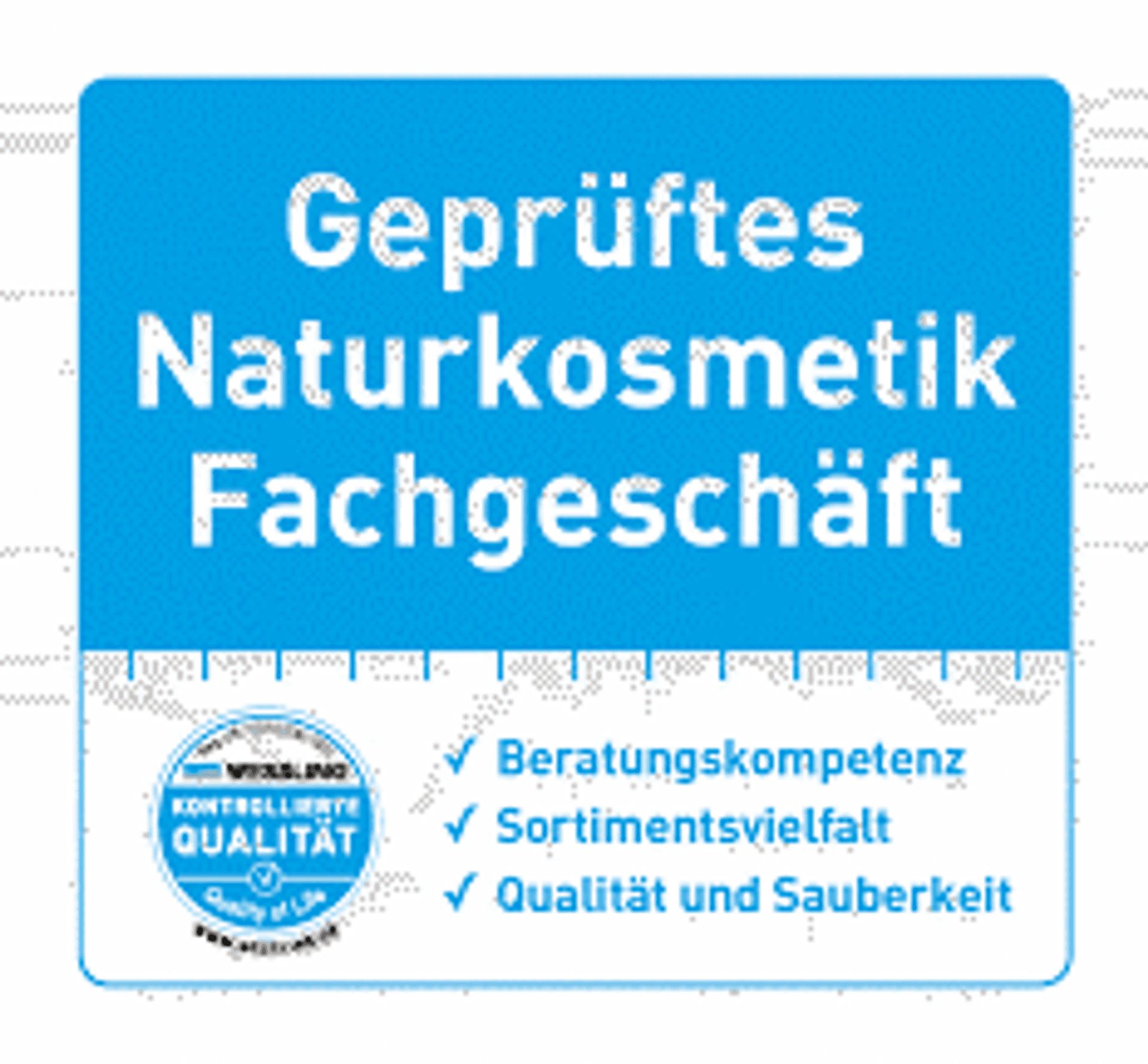 Geprüftes Naturkosmetik Fachgeschäft Siegel