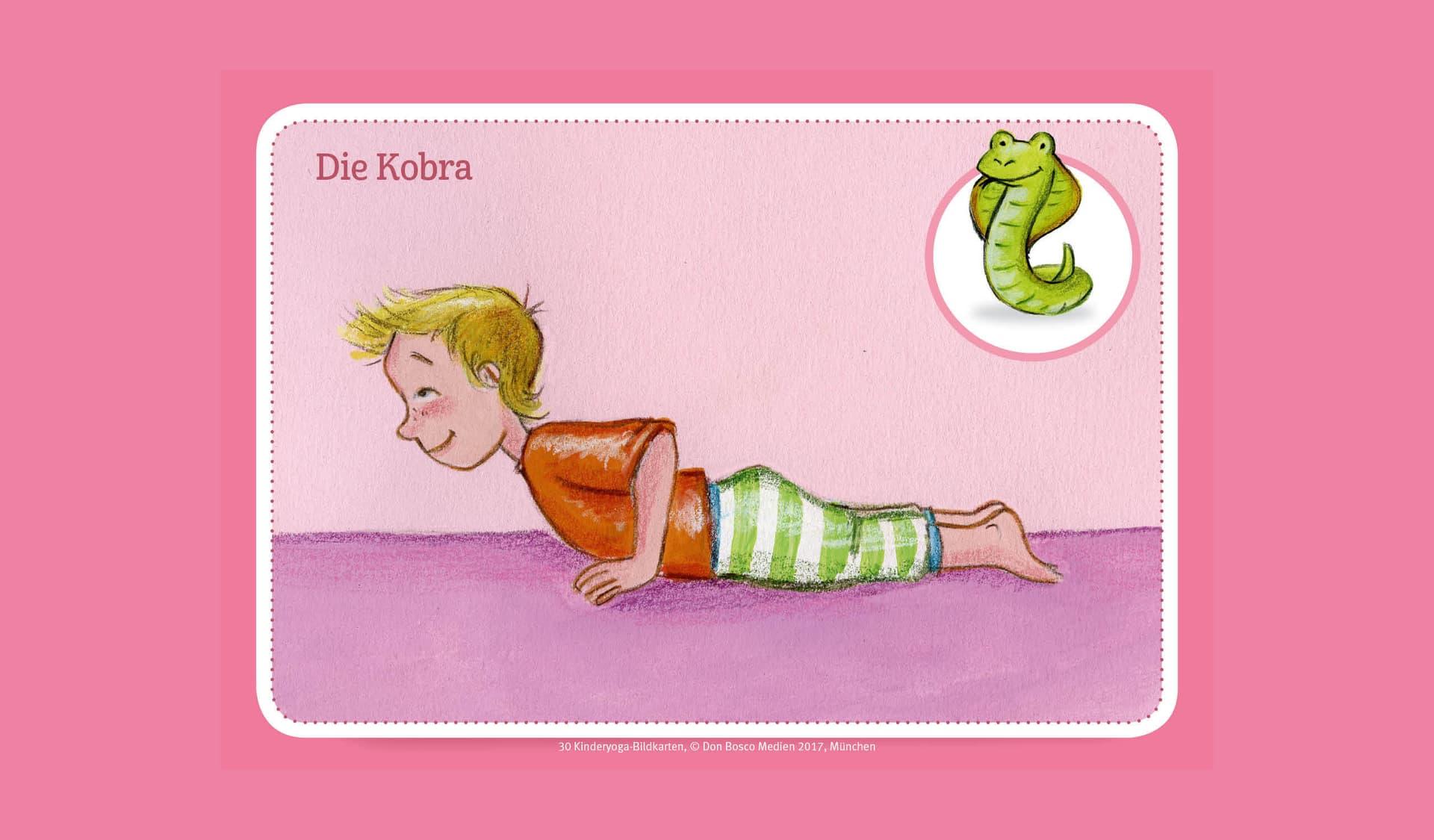 Ein Kind macht Yoga im Liegen