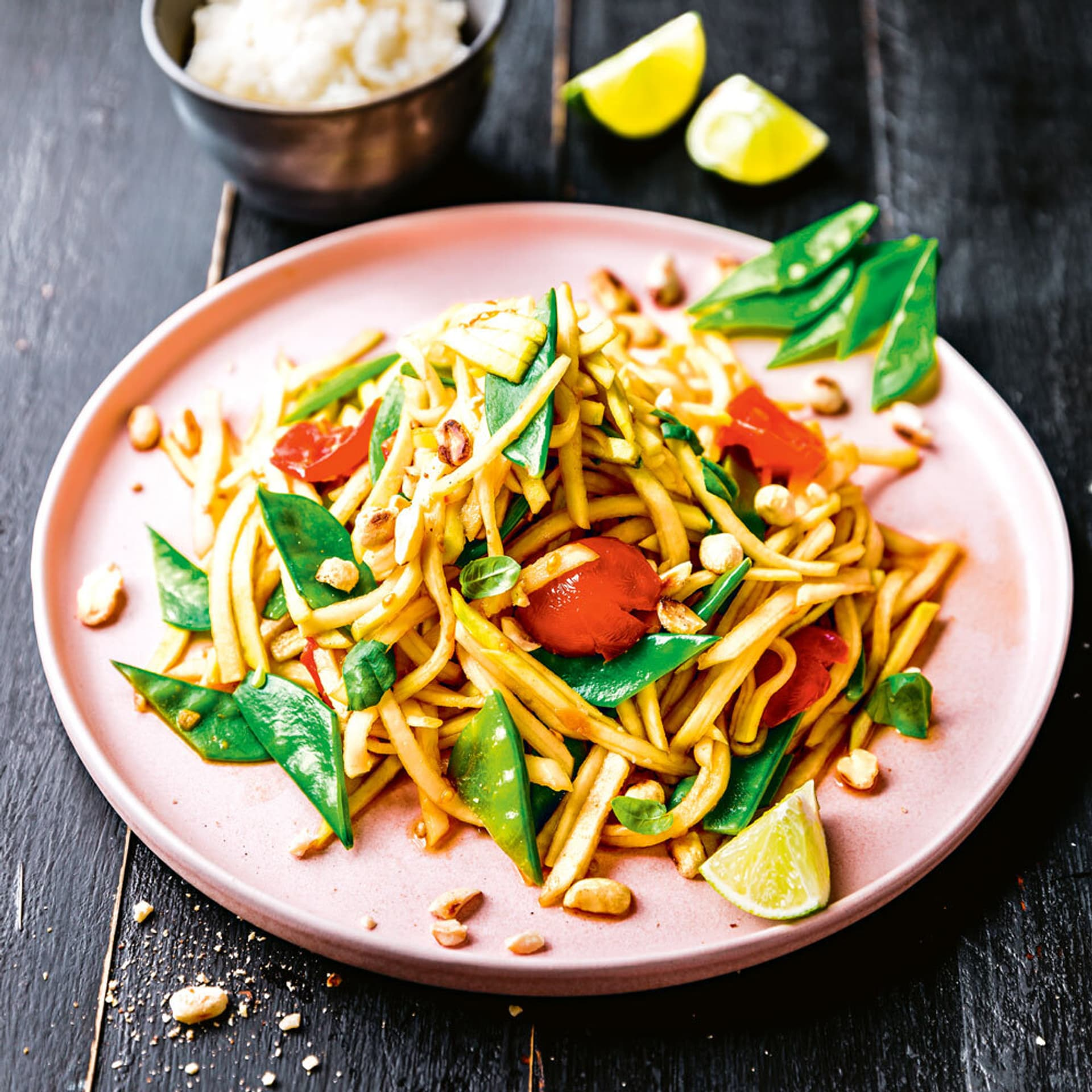 Zuckerschoten-Kohlrabi-Salat