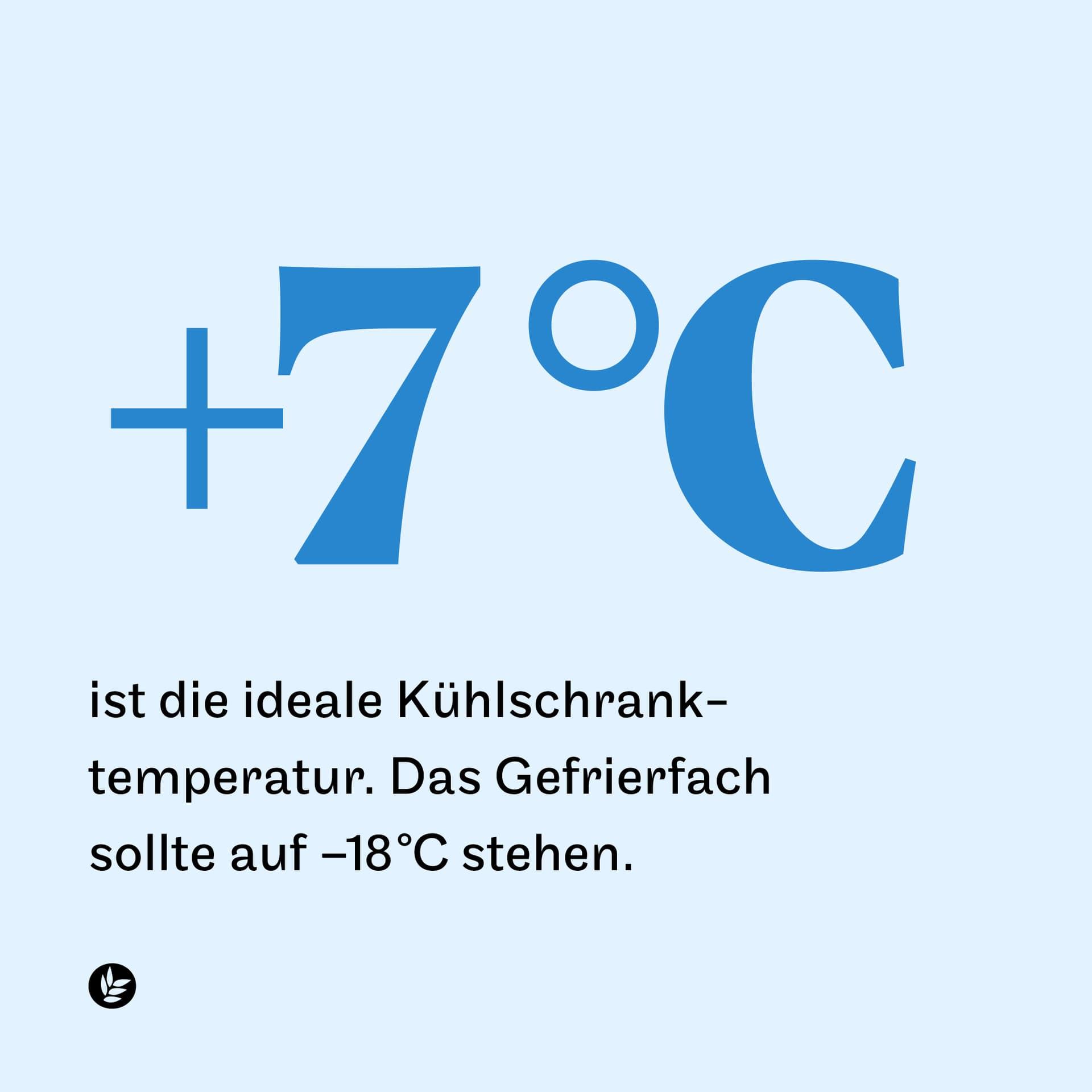 7 Grad ist die ideale Kühlschranktemperatur