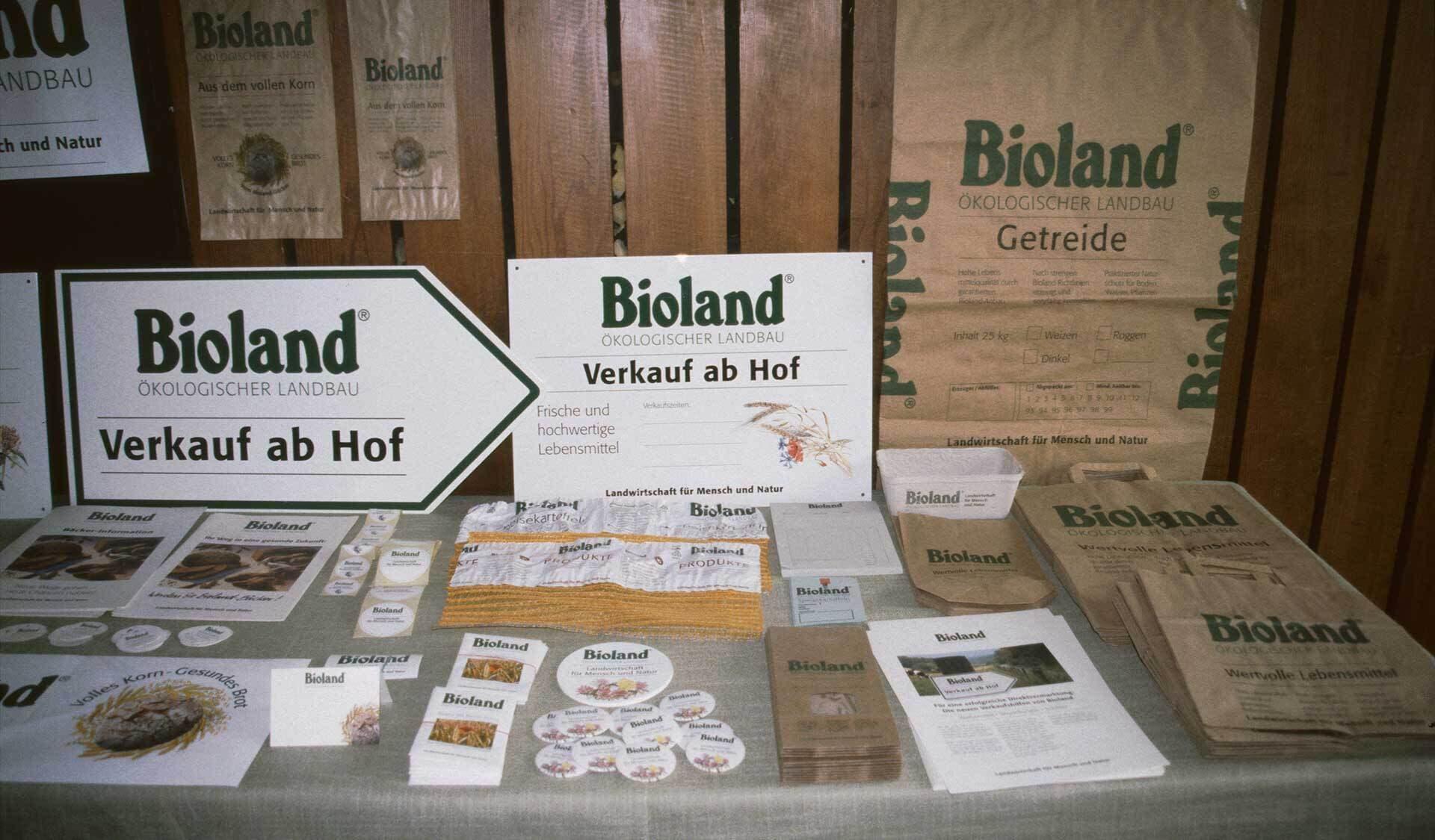 Historisches Marketing-Material des Bio Gemüse e.V.