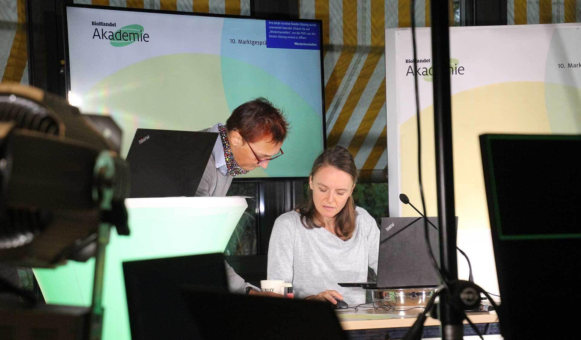 Ulrike Fiedler und Joyce Möwius