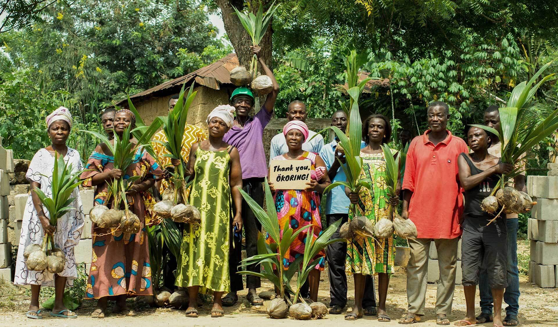 Gruppenfoto Kleinbauern Ghana
