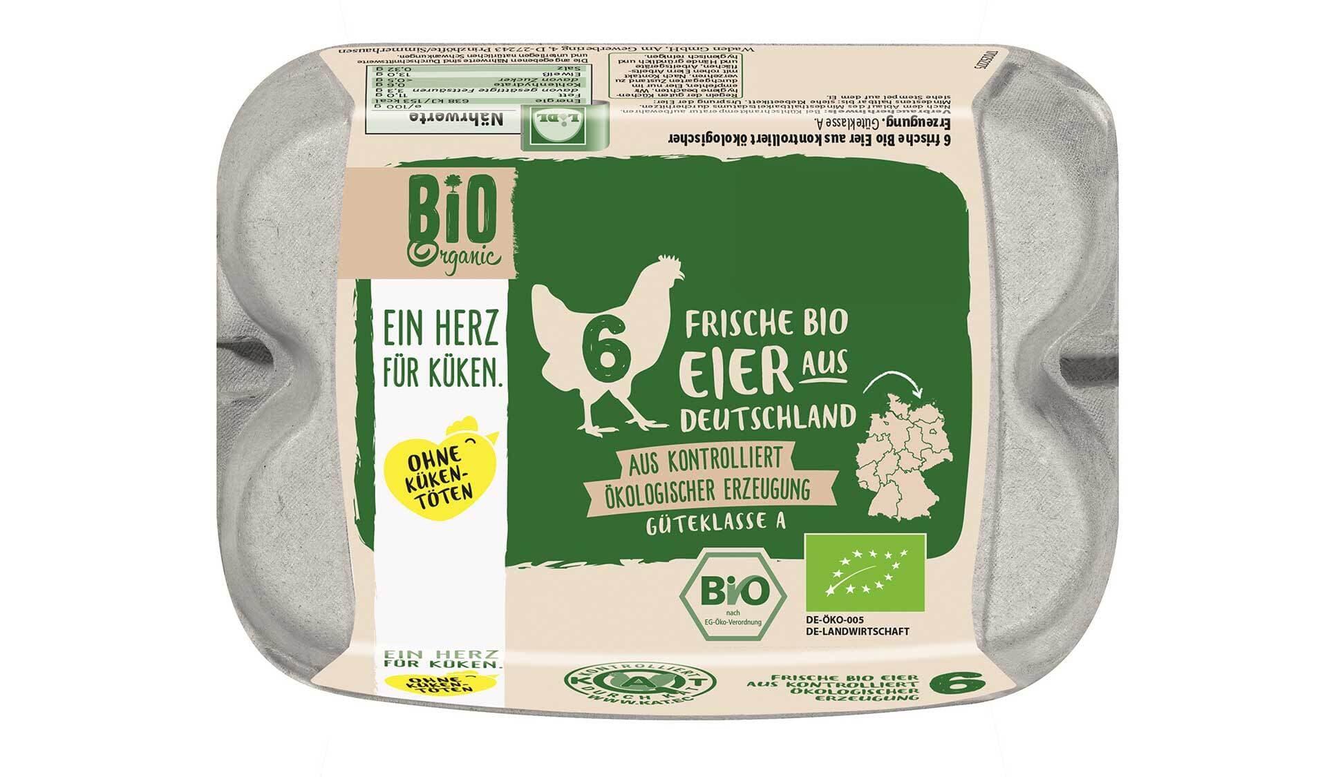 Lidl Bio Eier ohne Kuekentoeten