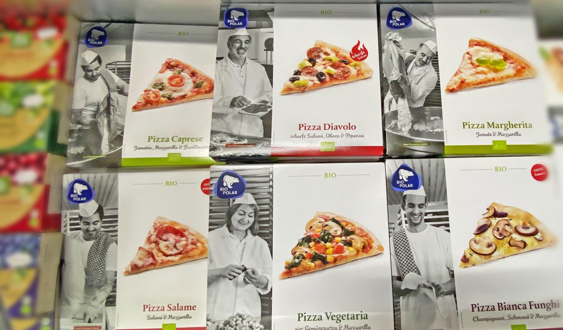 Pizzakartons in TK-Truhe