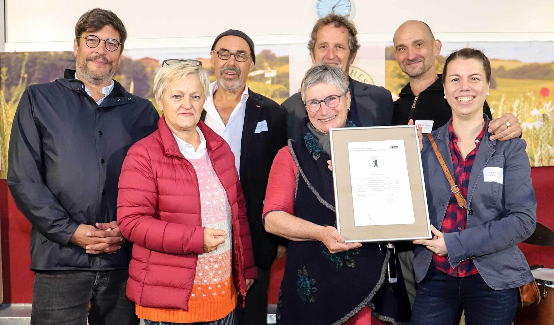 Dr. Dirk Behrendt (Justizsenator), Renate Künast (MdB), Joachim Weckmann (Märkisches Landbrot), Sabine Jansen (Märkisches Landbrot), Stefan Palme (Gut Wilmersdorf), Christoph Deinert, Katja Noll (beide Märkisches Landbrot)