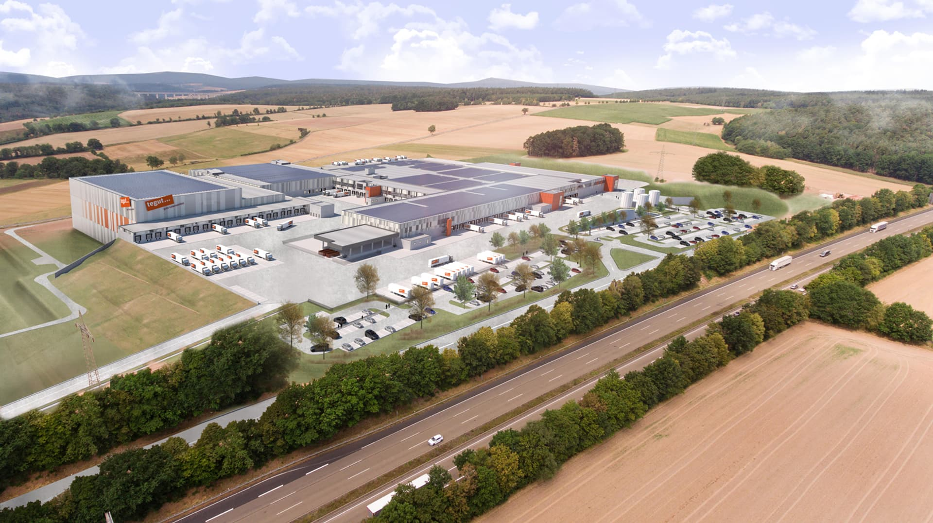 Visualisierung: Logistik-Neubau Tegut